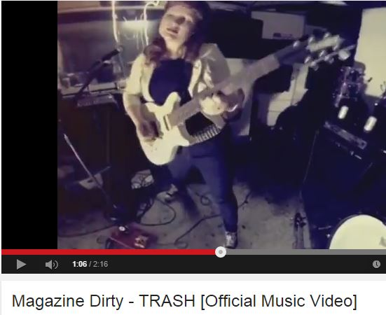 "With a Go Pro, a little toilet paper and a lot of luck, my punk band Magazine Dirty managed to create a ""music video."" Watch closely at the end, where you can see my picking my nose."