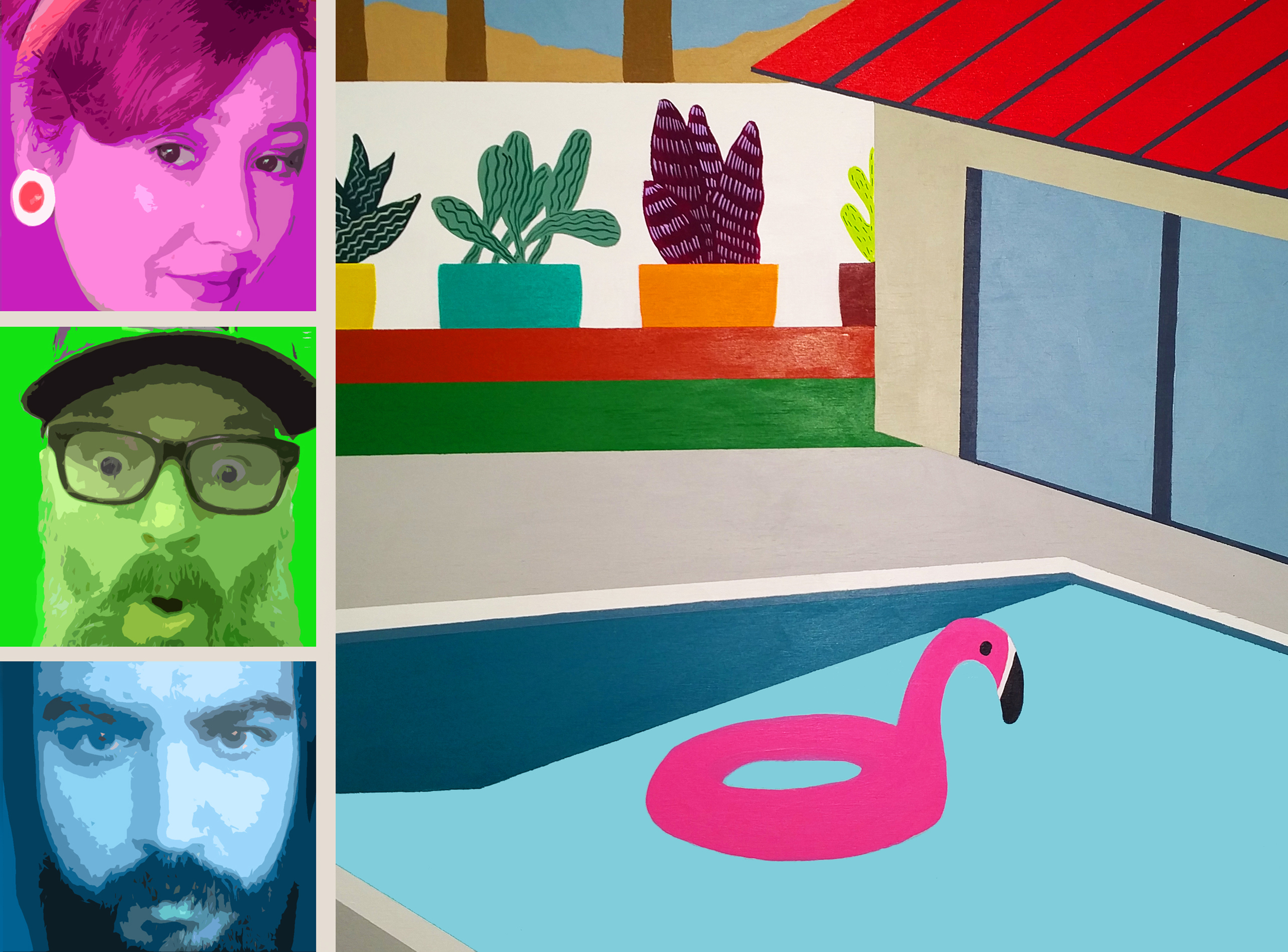 We stepped inside a pool paradise created by our pal Neal Breton and it was GROOVY!