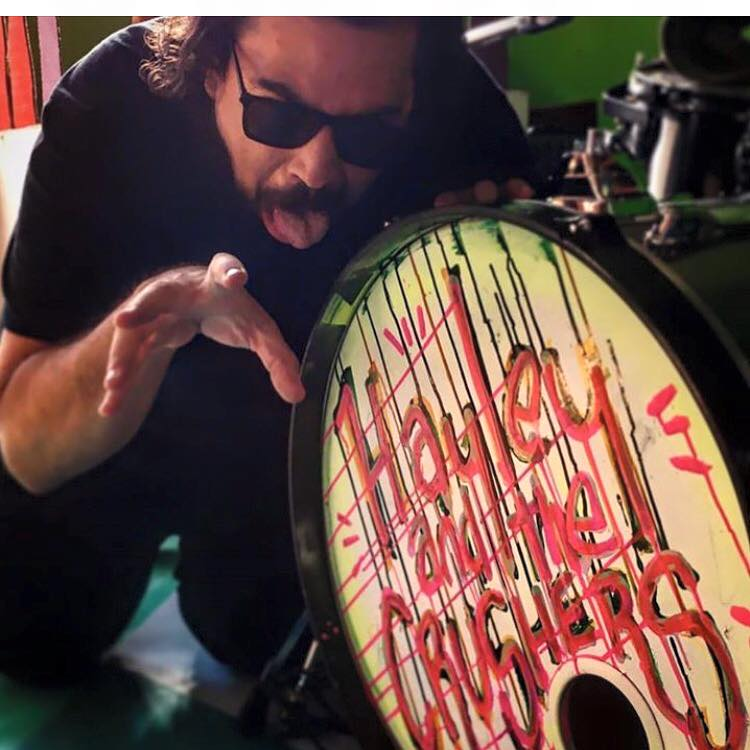 Gabe Crusher got his drum a makeover just in time for the gig!