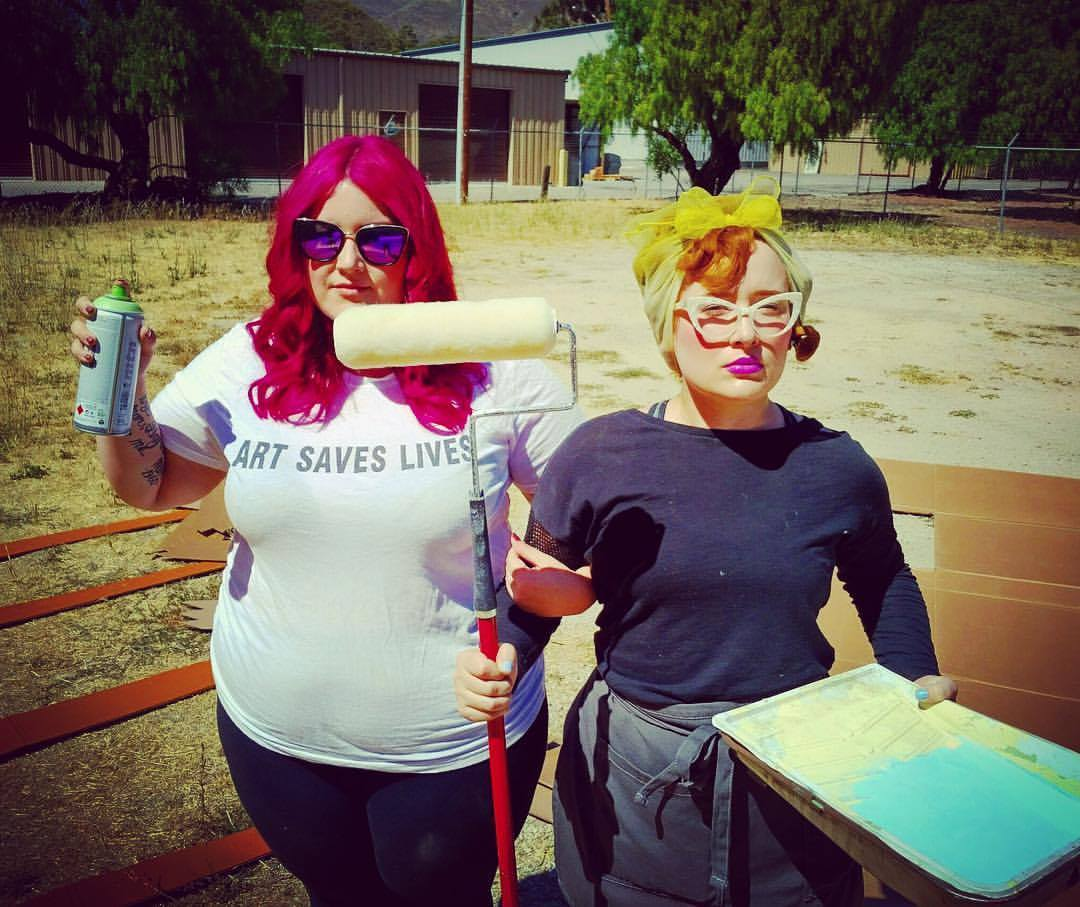 Jenn Hix and Hayley Crusher work with Neal Breton at The Bunker aka THE SANDLOT to create the pool party weirdness!