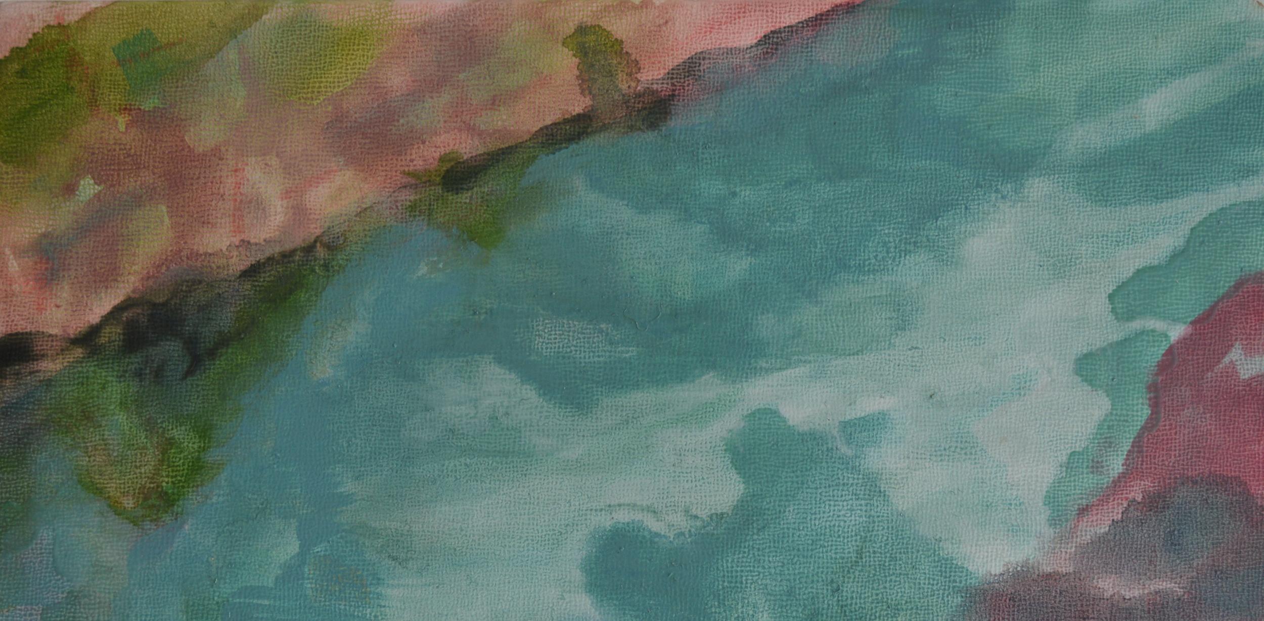"Retraction , Oil on Panel, 6 x 12"", 2014"