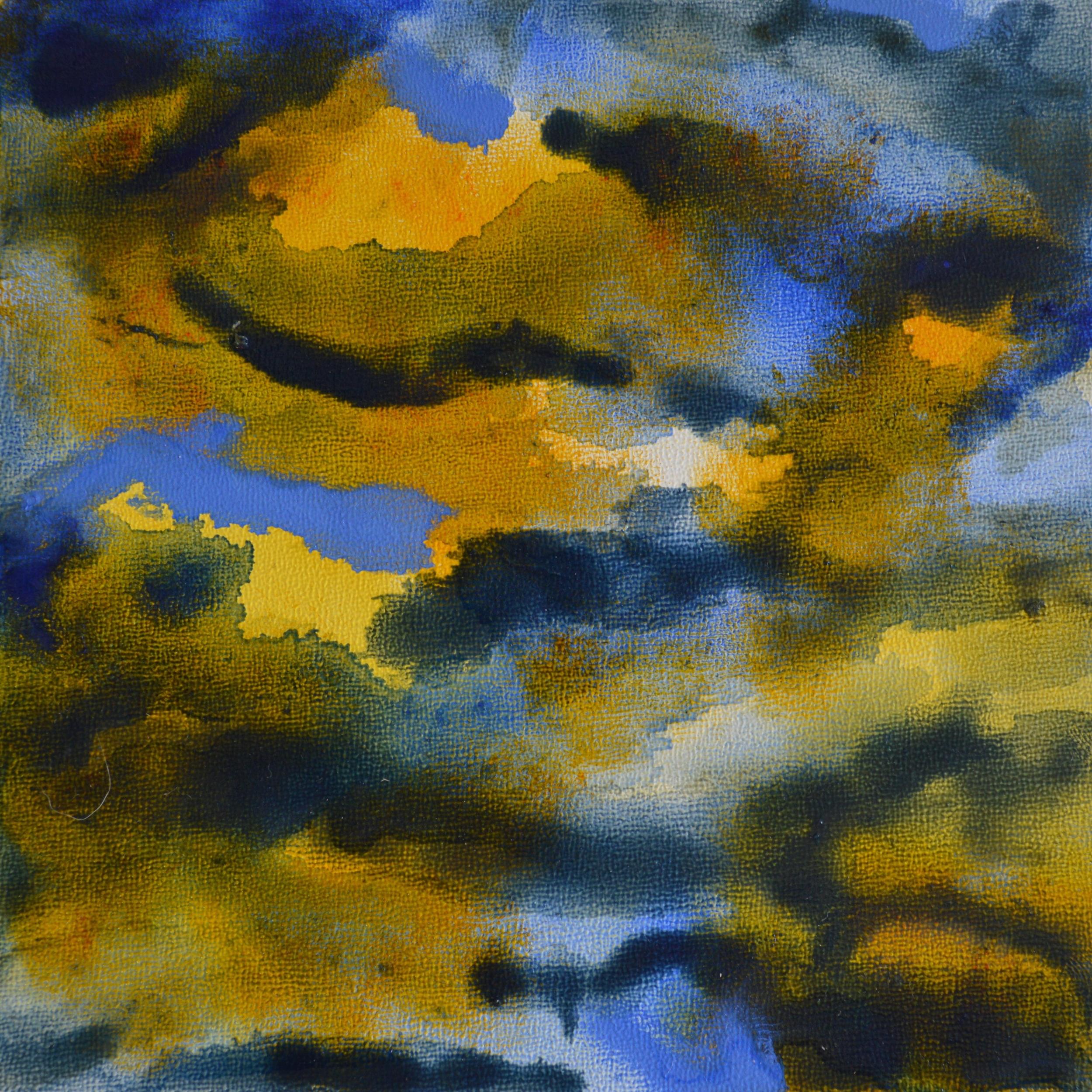 "Tessellating ,Oil on Panel, 6 x 6"", 2014"