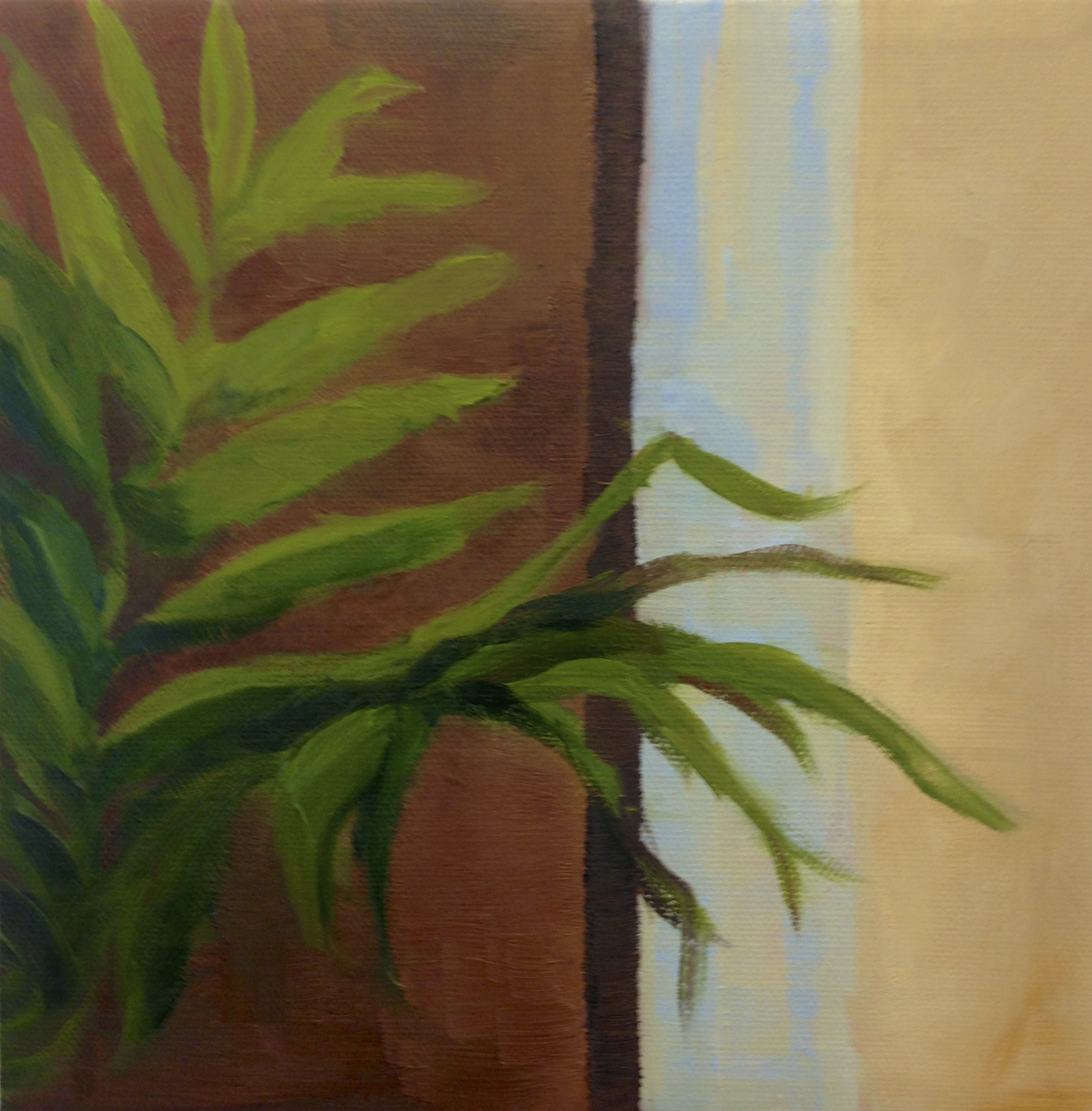 "Plant Series II , Oil on Canvas, 12 x 12"", 2013"