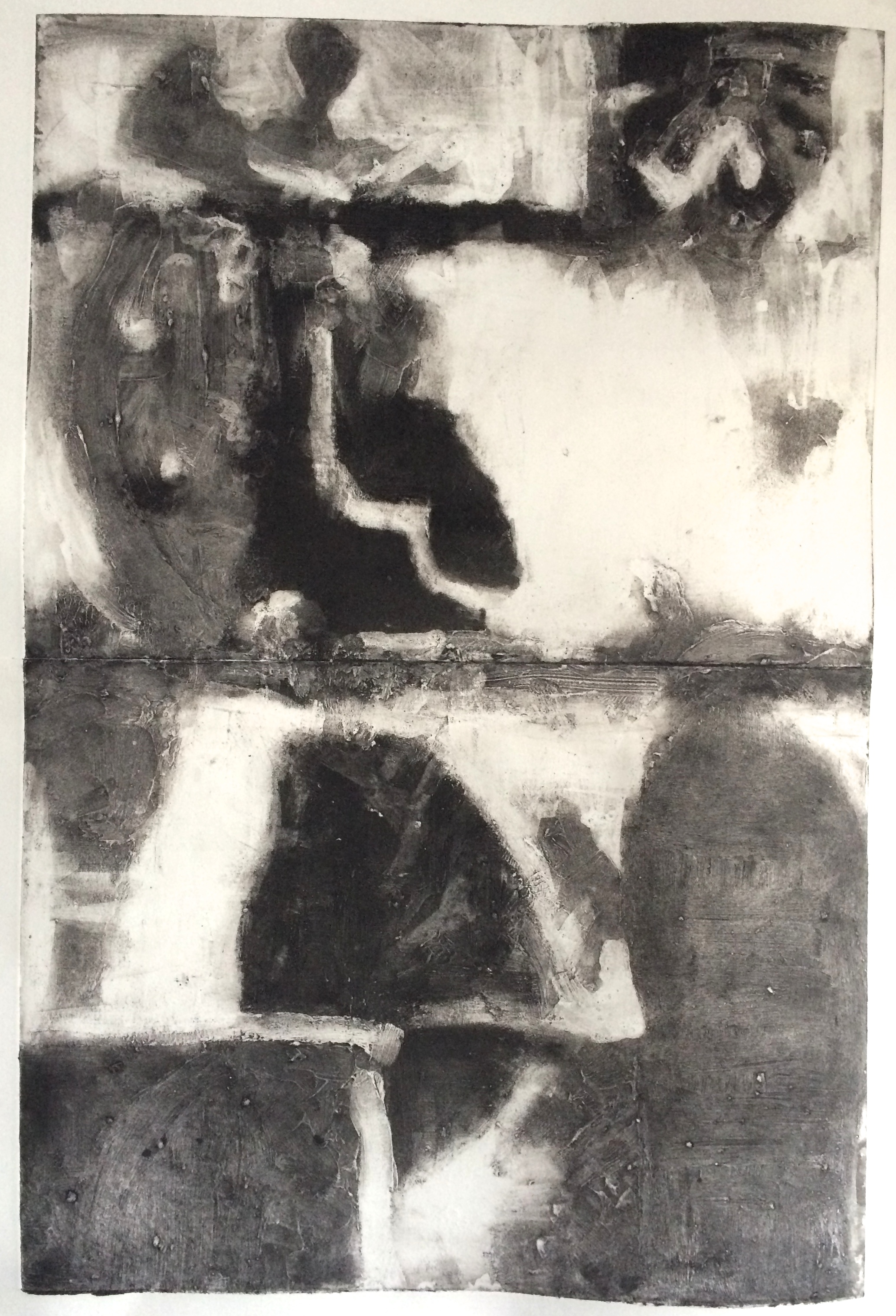 "Untitled , Carborundum Print, Water-based Ink on Paper, 24 x 16"", 2015"