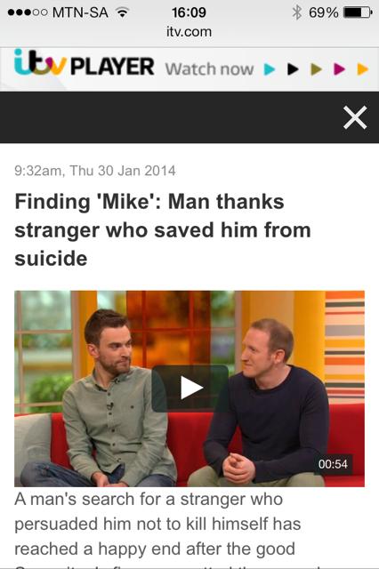 Finding Mike: The Stranger on the Bridge - ITV