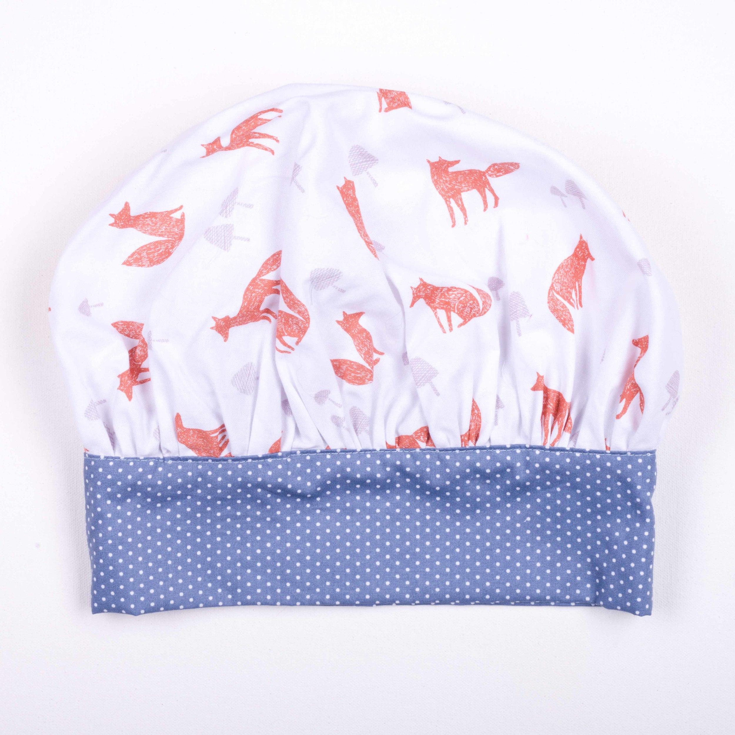 Skoo KidsKitchen Foxes Print Chefs Hat