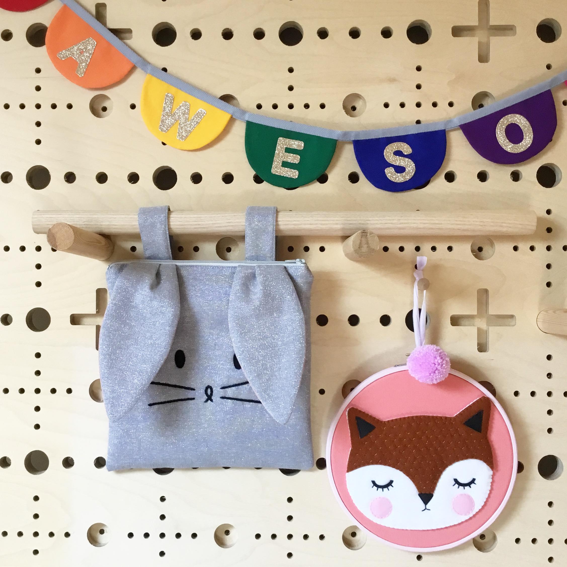Sparkly Grey Metallic Bag with Straps