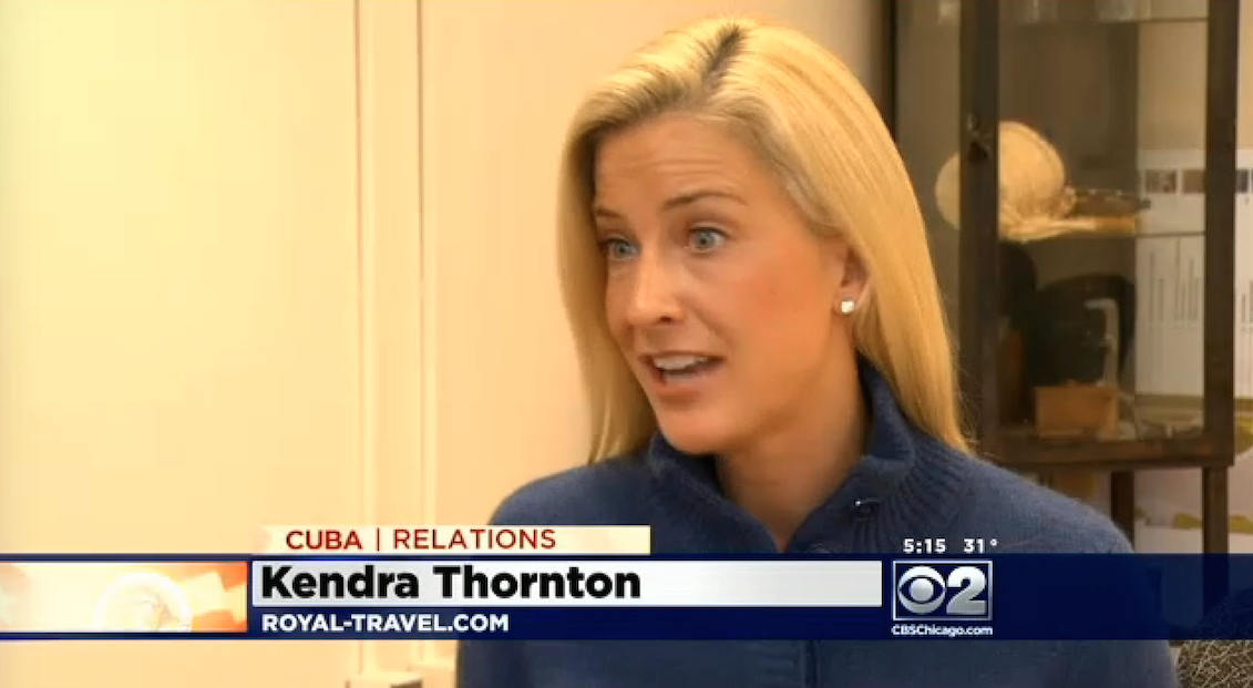 CBS interview on Restrictions with Cuba Travel