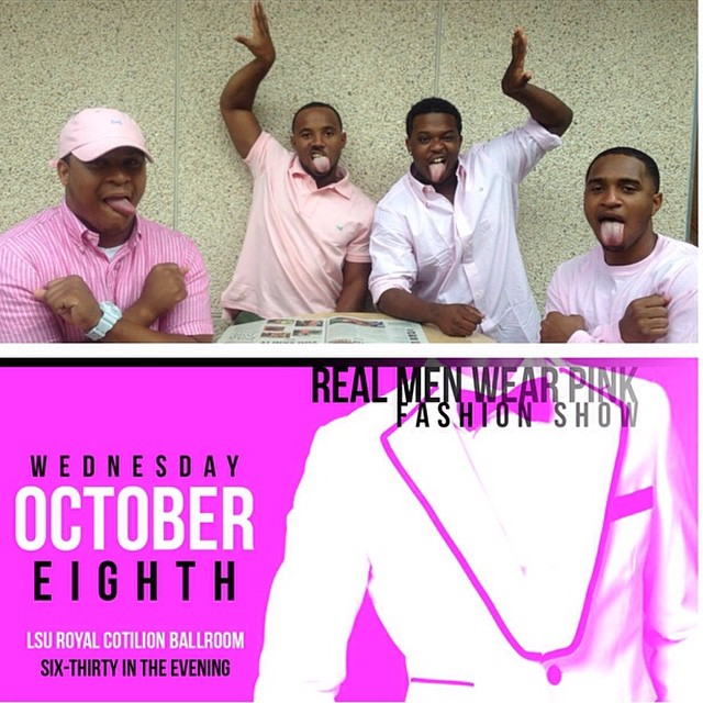 "Tomorrow, come owt to the 1st annual You Got Served: Real Men wear pink fashion. The young brothers of Theta Kappa will be partaking in this event. Donations are accepted as a door fee but it is a ""pay what you can"" entry fee. All donations are going to charity."