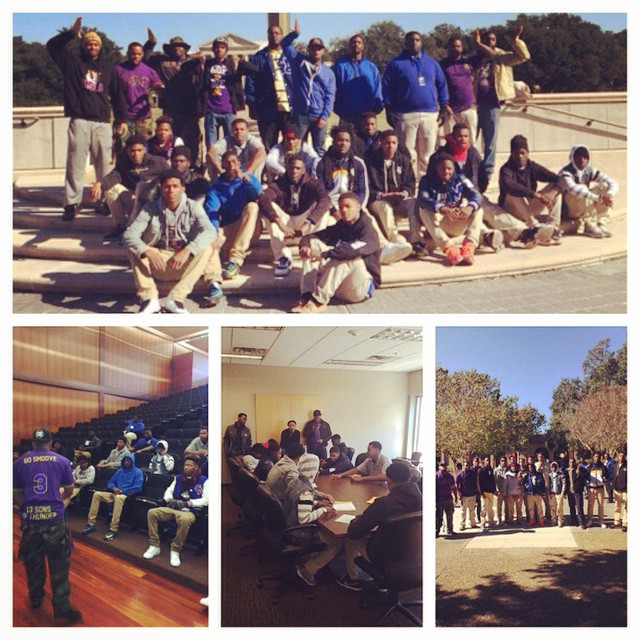 On this Wednesday the young bruhz of Theta Kappa mentored young men from McKinley High in their Boys To Men program. The students were toured around the LSU campus with the Bruhz  by sitting in on classes, the cafe, Union, and seeing Mike The Tiger. We would like to thank McKinley High for allowing these young men to be apart of this and hope they can continue down their road to success #omegaweek #service #manhood #scholarship #perseverance  #uplift