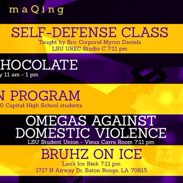 Tonight at 7:11. Come owt to the Bruhz Against Domestic Violence talk. And don't forget that tomorrow at Leo's. Bruhz on Ice. $12 at the door. Come put on the ice blades and see if you can keep up with the young bruhz.