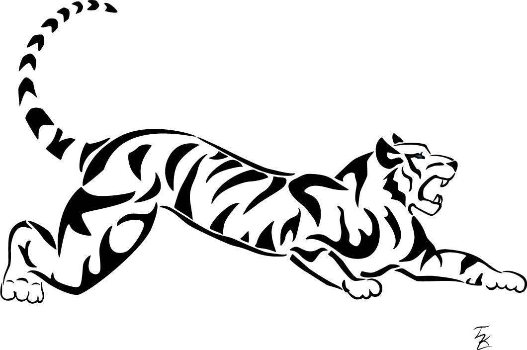 Personal project. A3-sized poster of a white tiger, based on an old drawing which has been faithfully recreated and vectorized in Adobe Illustrator. A very simple and minimalistic design based in many ways on the tribal tattoo artstyle, which befits the striped tiger very well. It has also been printed as a sticker in both full body and with minor modifications to limit the image to only the head.