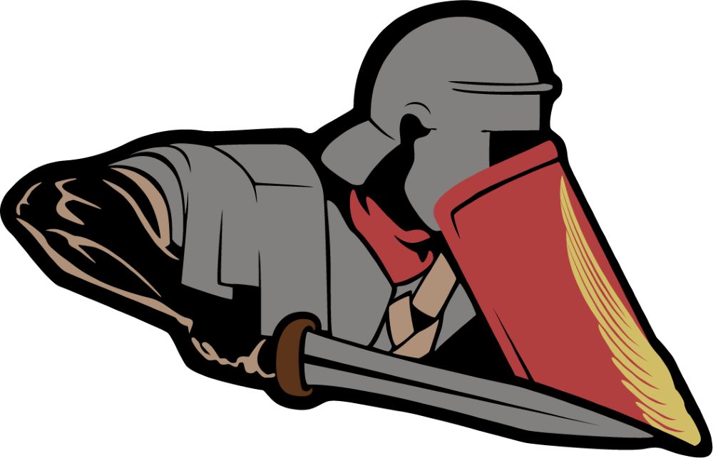 Vector drawing of a Roman soldier. Designed for a stream overlay and notification pop-ups. Used on stream on the release day of the game  Imperator: Rome .