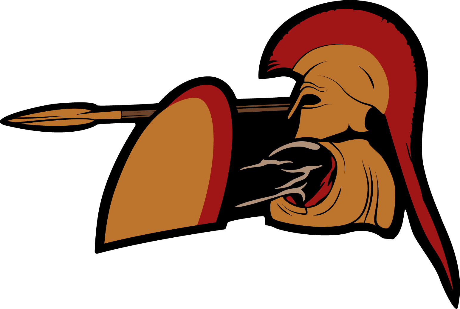 Vector drawing of a hoplite in similar pose and style to the Roman soldier vector drawing. Also designed for and used on an Imperator: Rome stream.