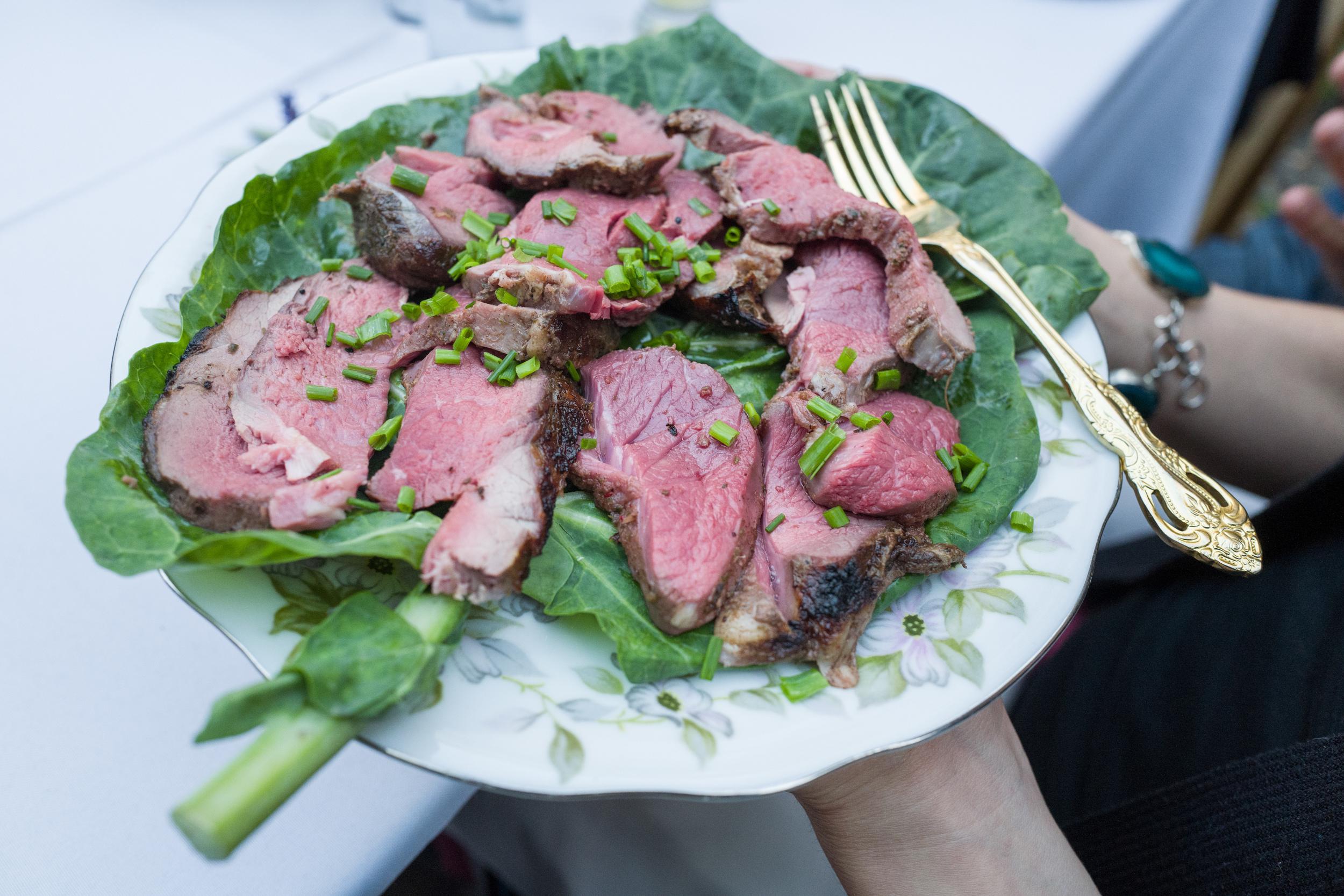 Jerk Spiced Roast Lamb.                            Photo by Victoria Smith