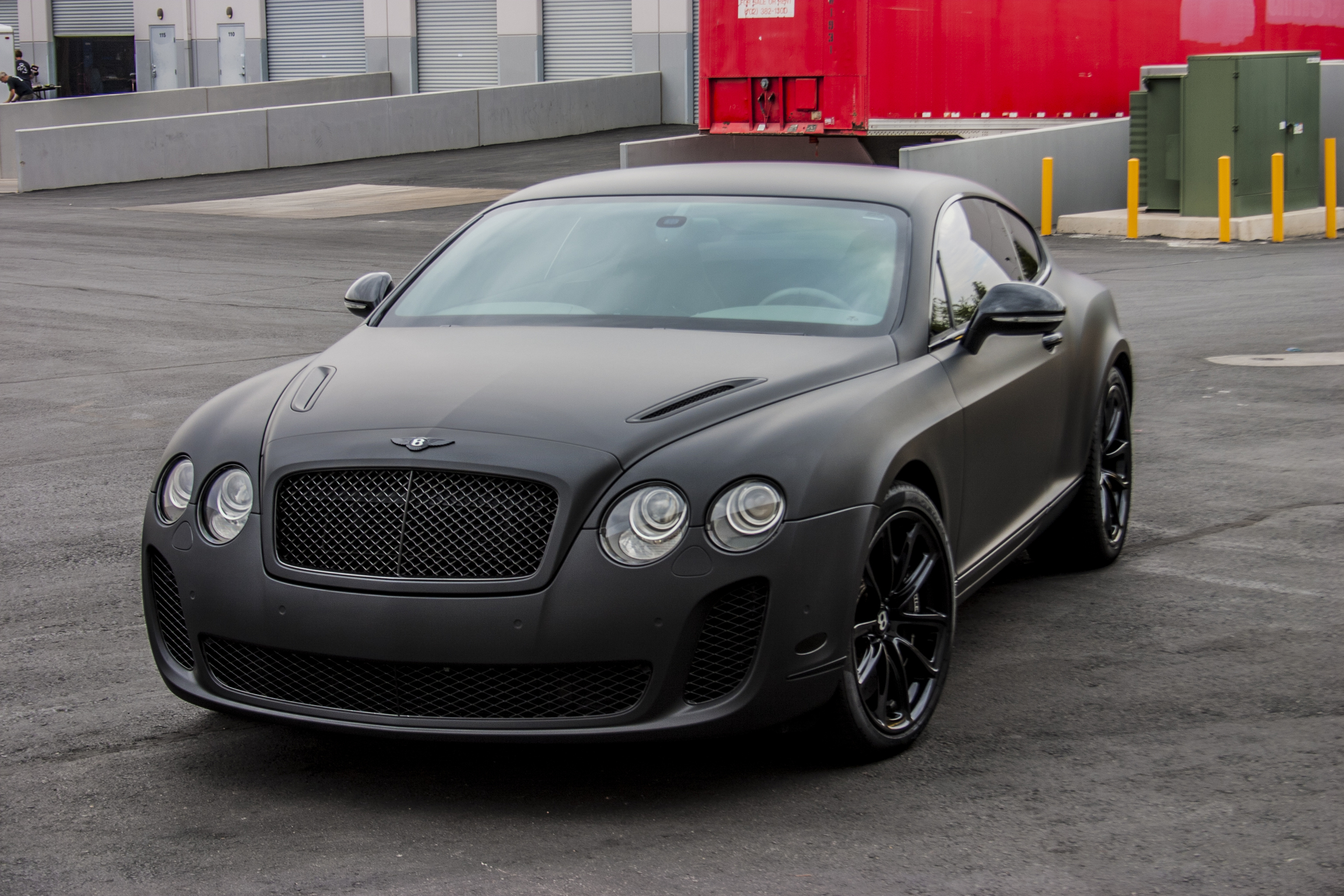 Bentley Continental Super Sport Matte Black Incognito Wraps