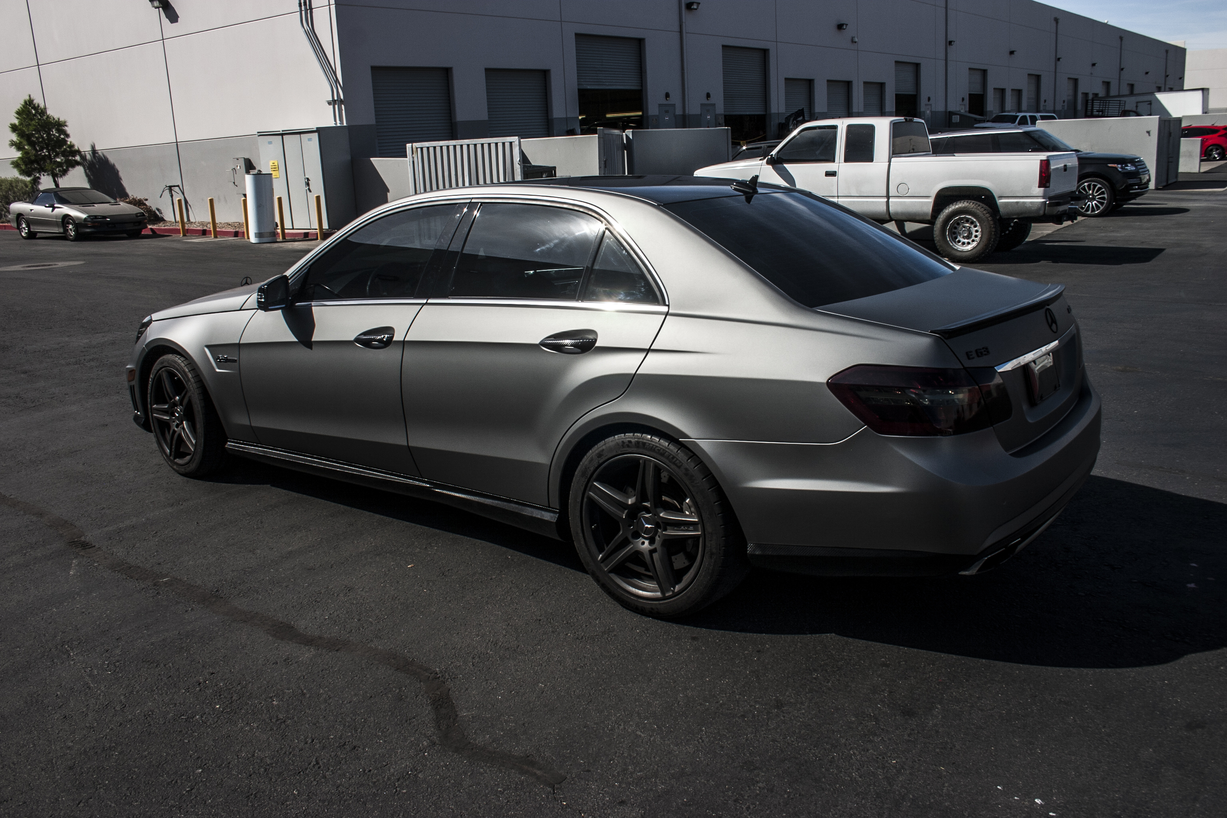 Mercedes Benz E 63 Matte Gunmetal Incognito Wraps
