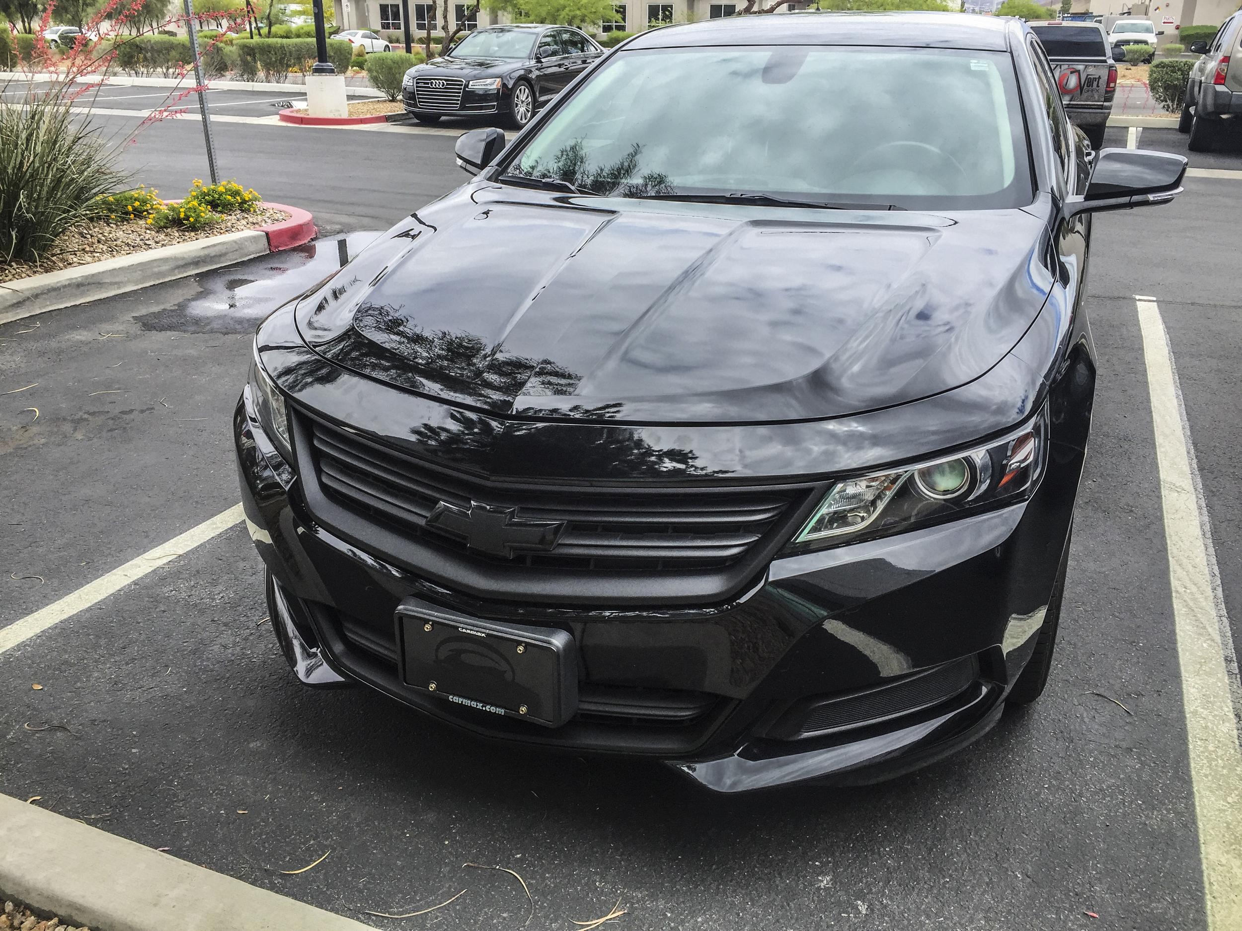 Chevy Impala - Matte Black Chrome Delete — Incognito Wraps