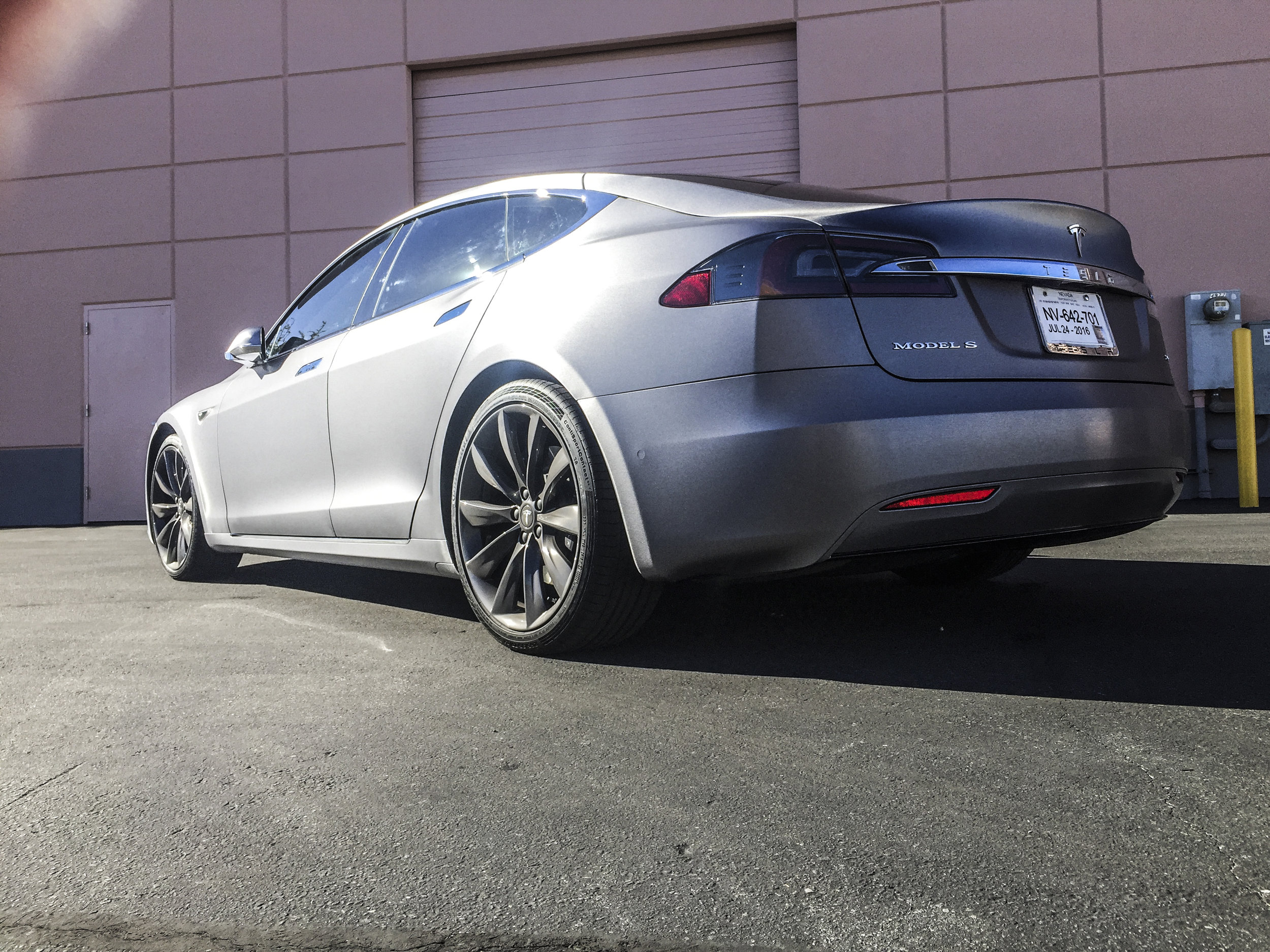 Tesla Model S - Brushed Steel Wrap