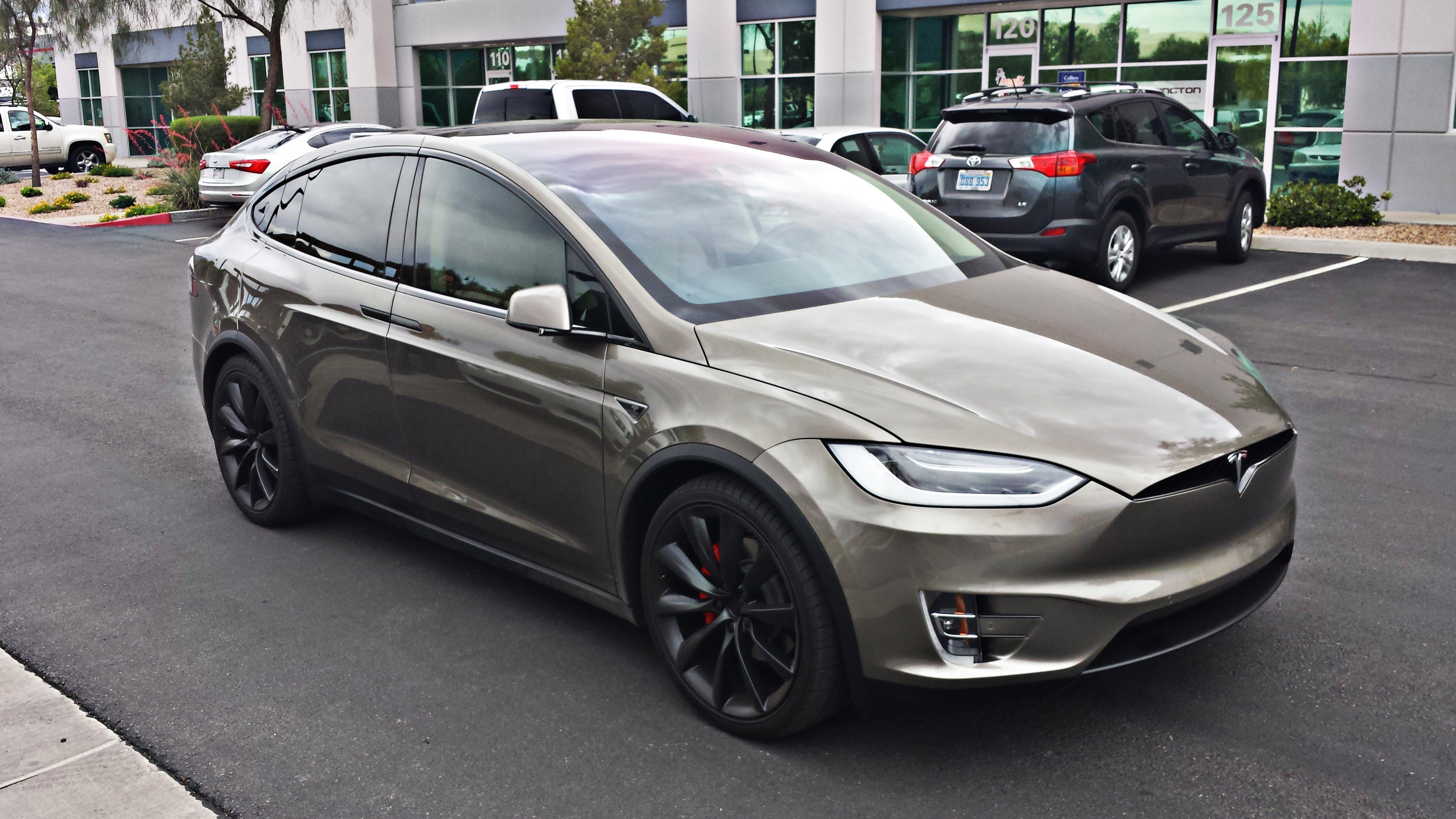 Tesla Model X - Black Metallic Chrome Delete