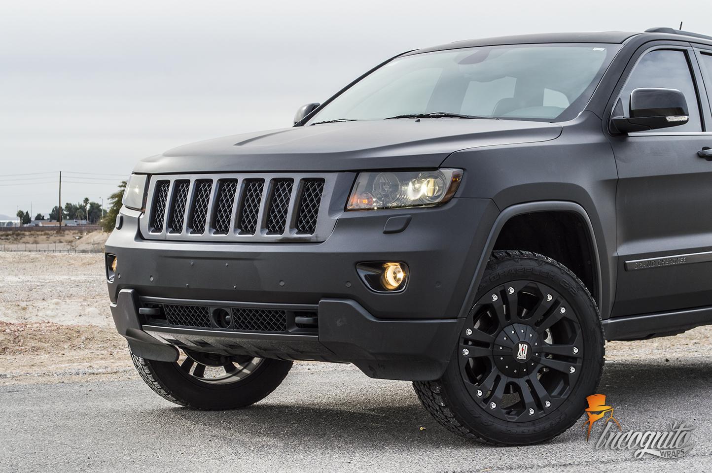 Jeep Matte Black >> Jeep Grand Cherokee Matte Black With Chrome Delete Incognito Wraps
