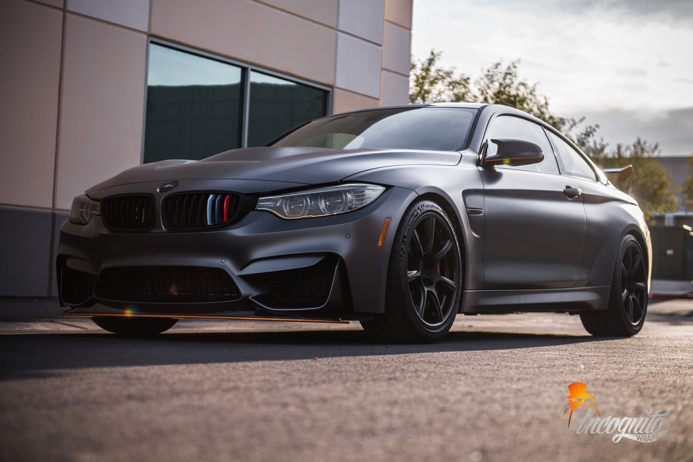 Bmw M4 Gts Acid Orange And Raw Carbon Incognito Wraps