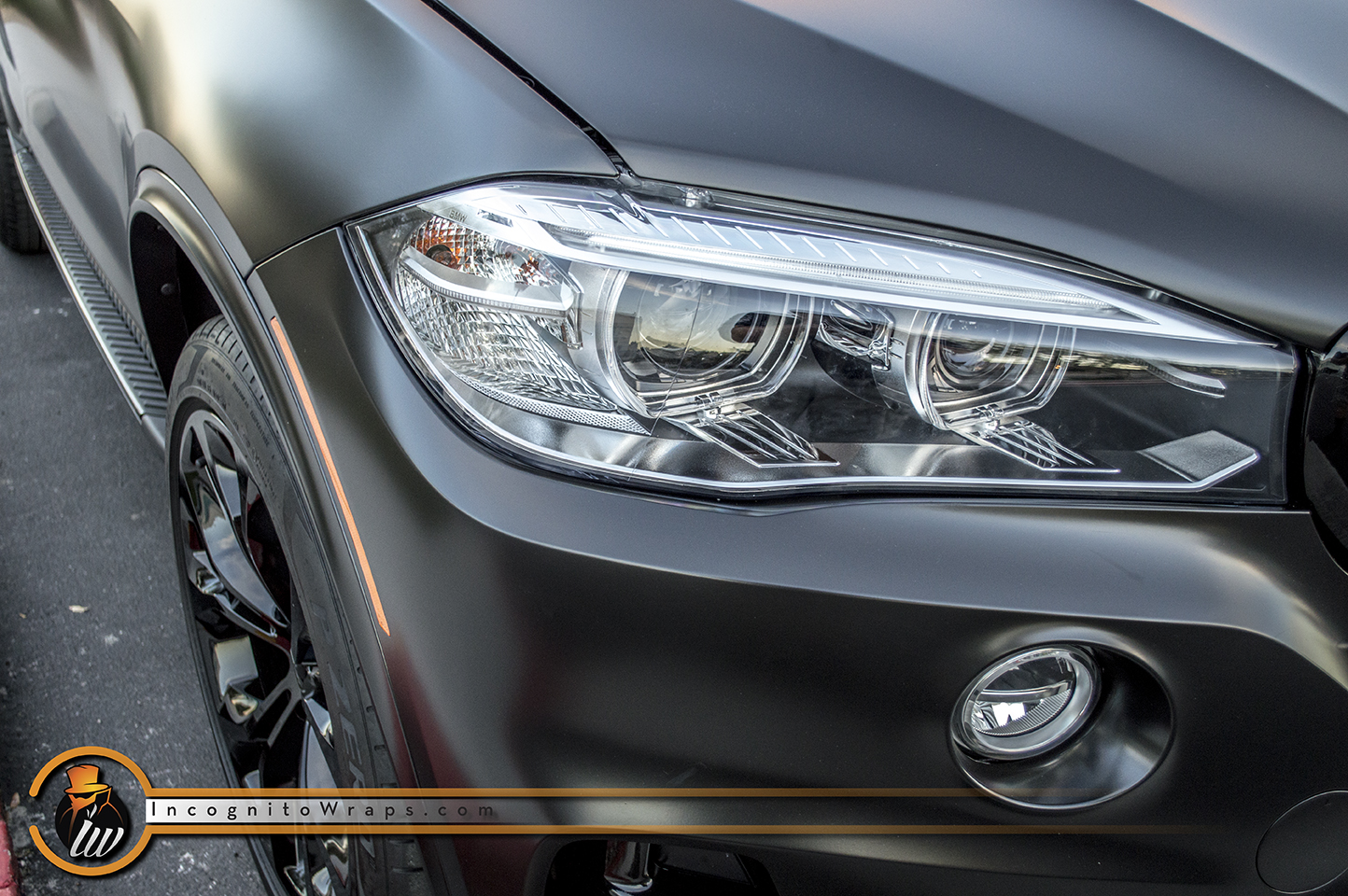 Bmw X5 Satin And Gloss Black Incognito Wraps