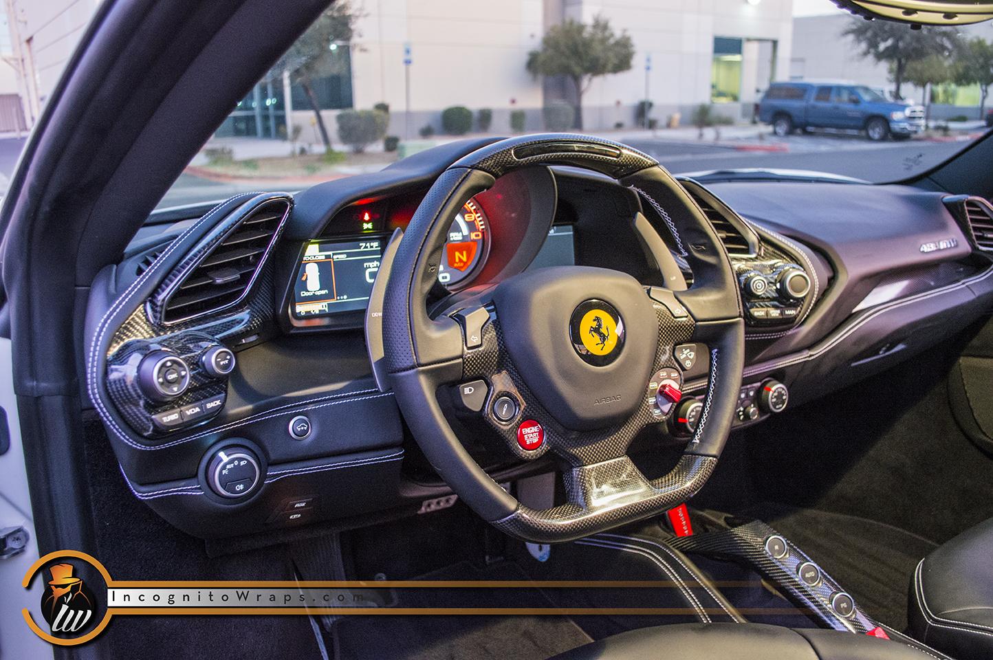 Ferrari 488 Gtb Carbon Interior Incognito Wraps