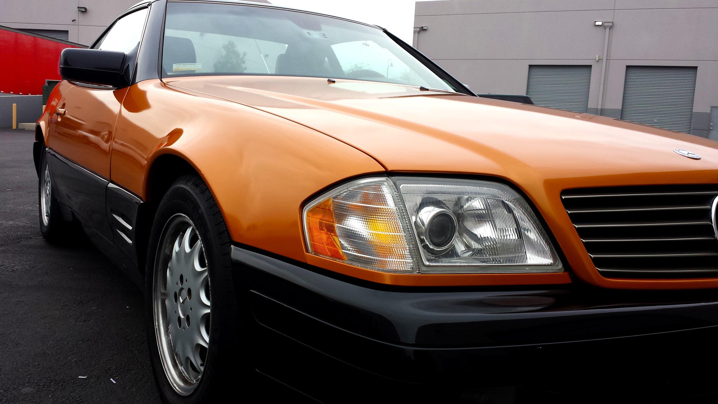 Mercedes SL 600 pearl orange