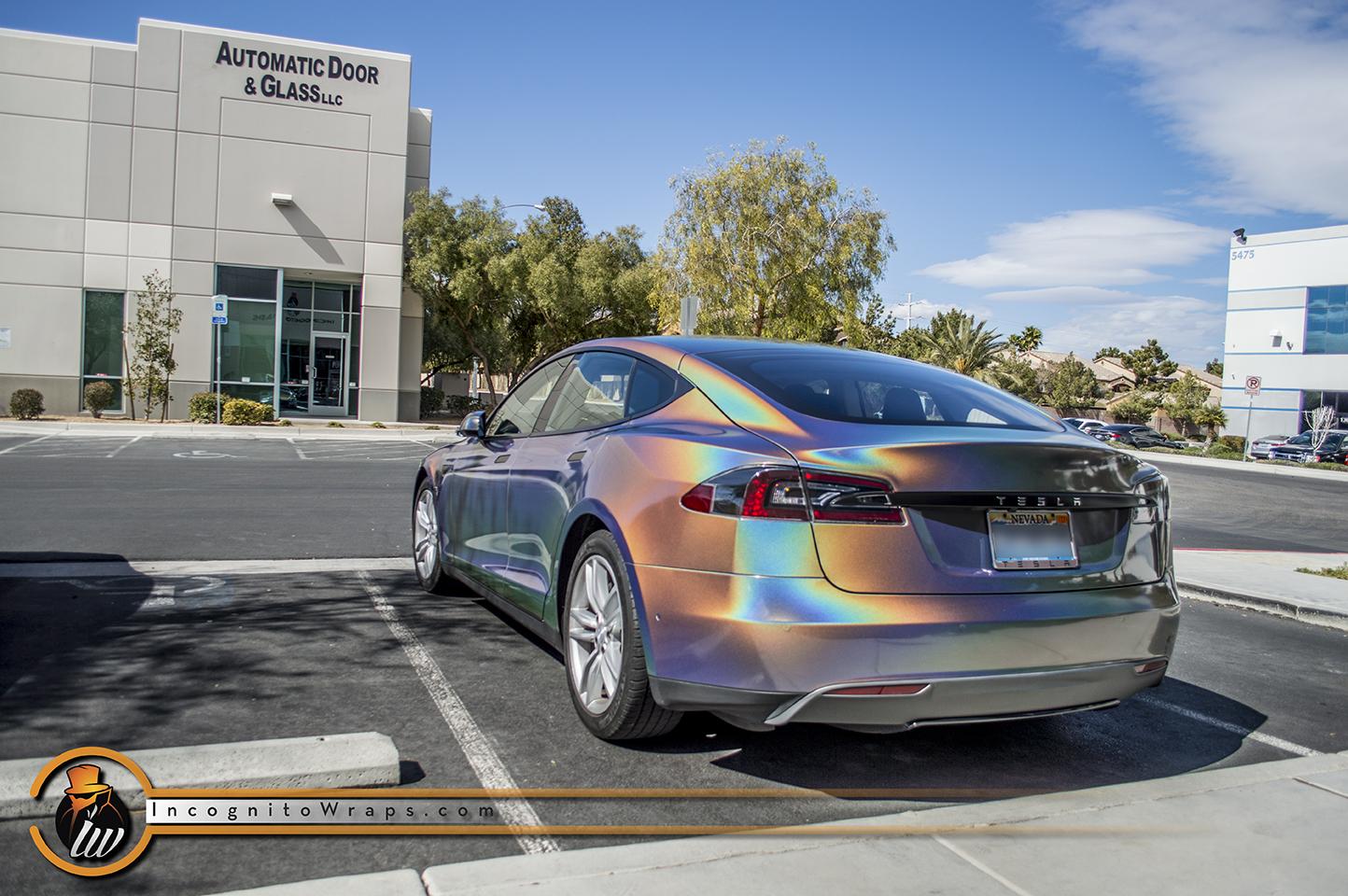 Tesla Model S Psychedelic