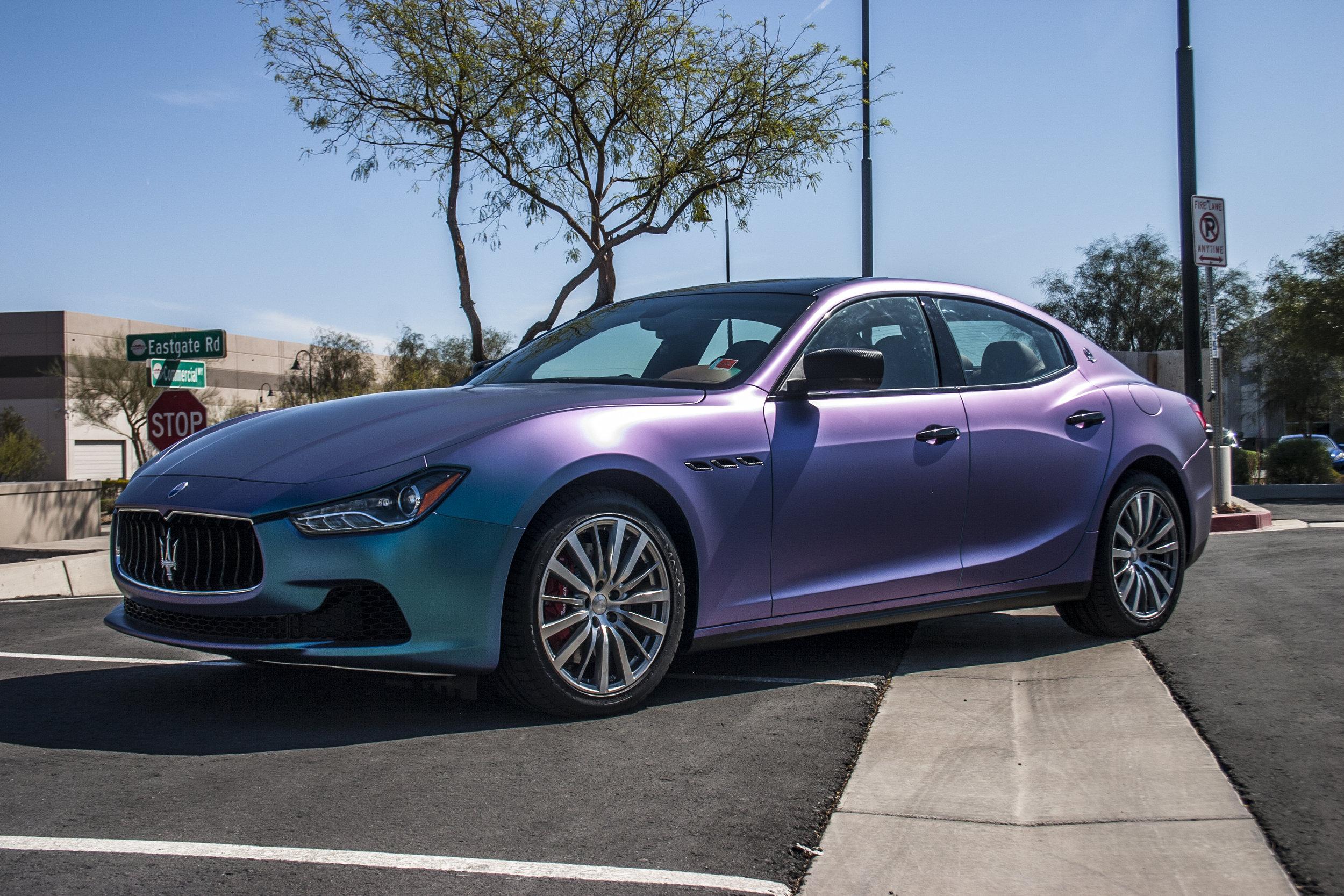 Maserati Ghibli Shift Effect Color Change