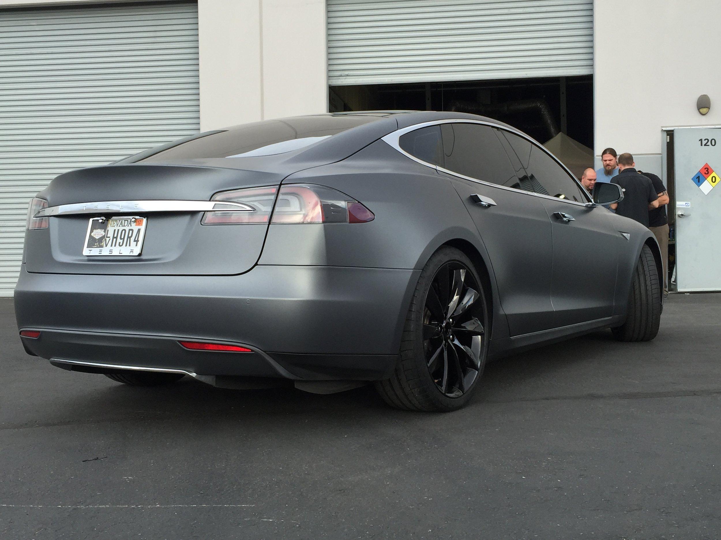 Tesla Model S Matte Charcoal Metallic