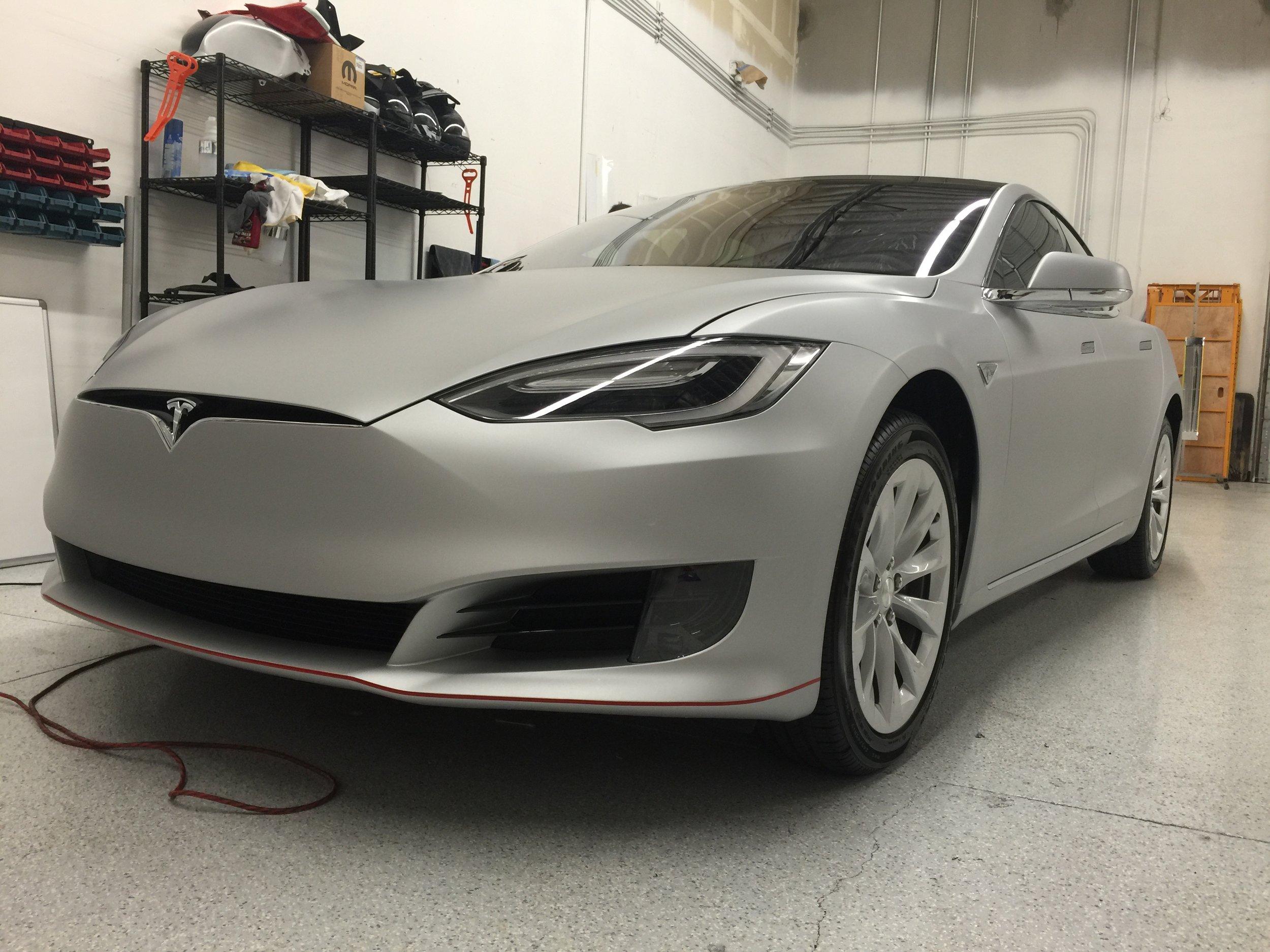 Tesla Model S Matte Metallic Silver