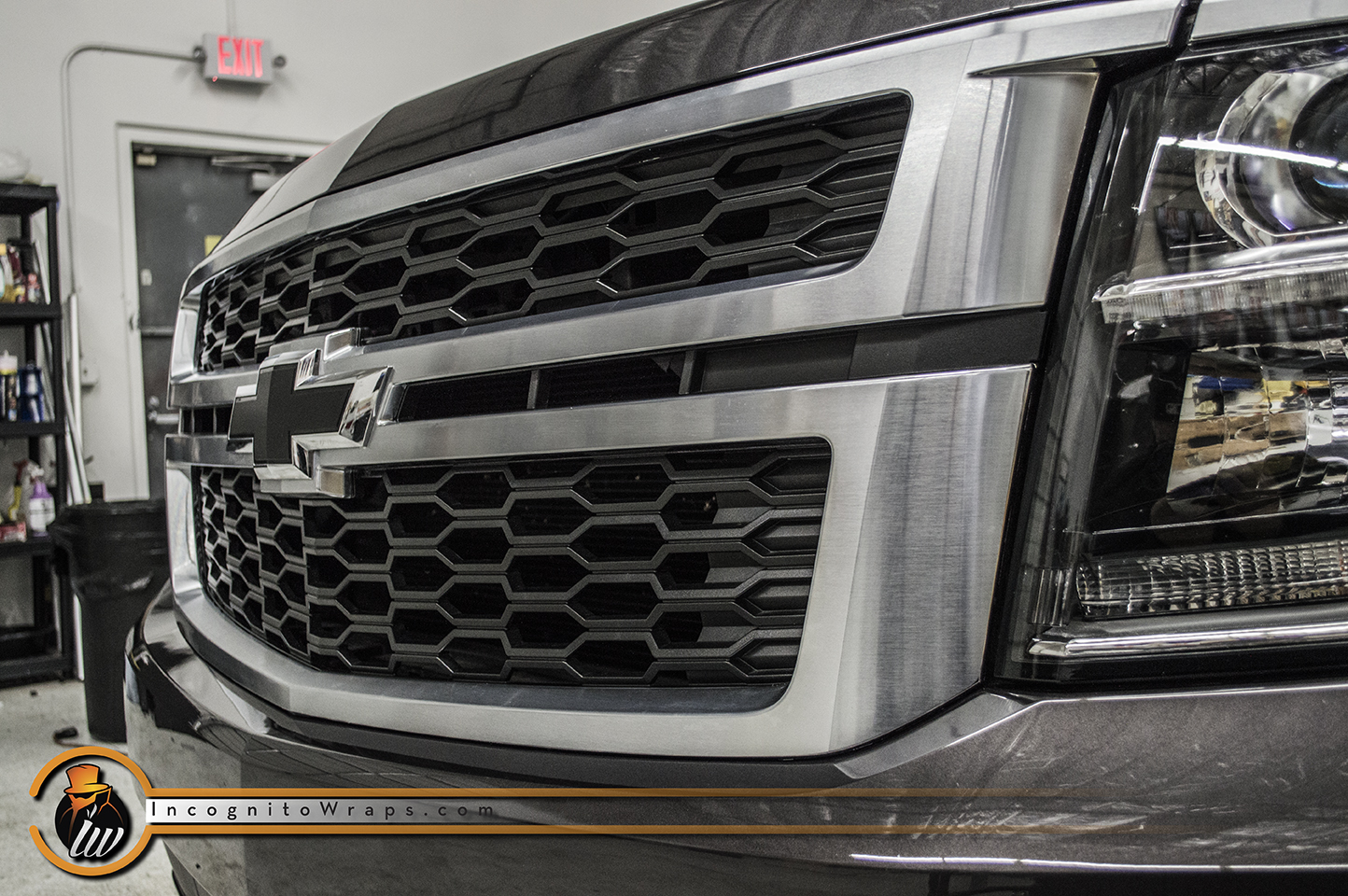 Chevy Tahoe Brushed Chrome Grill
