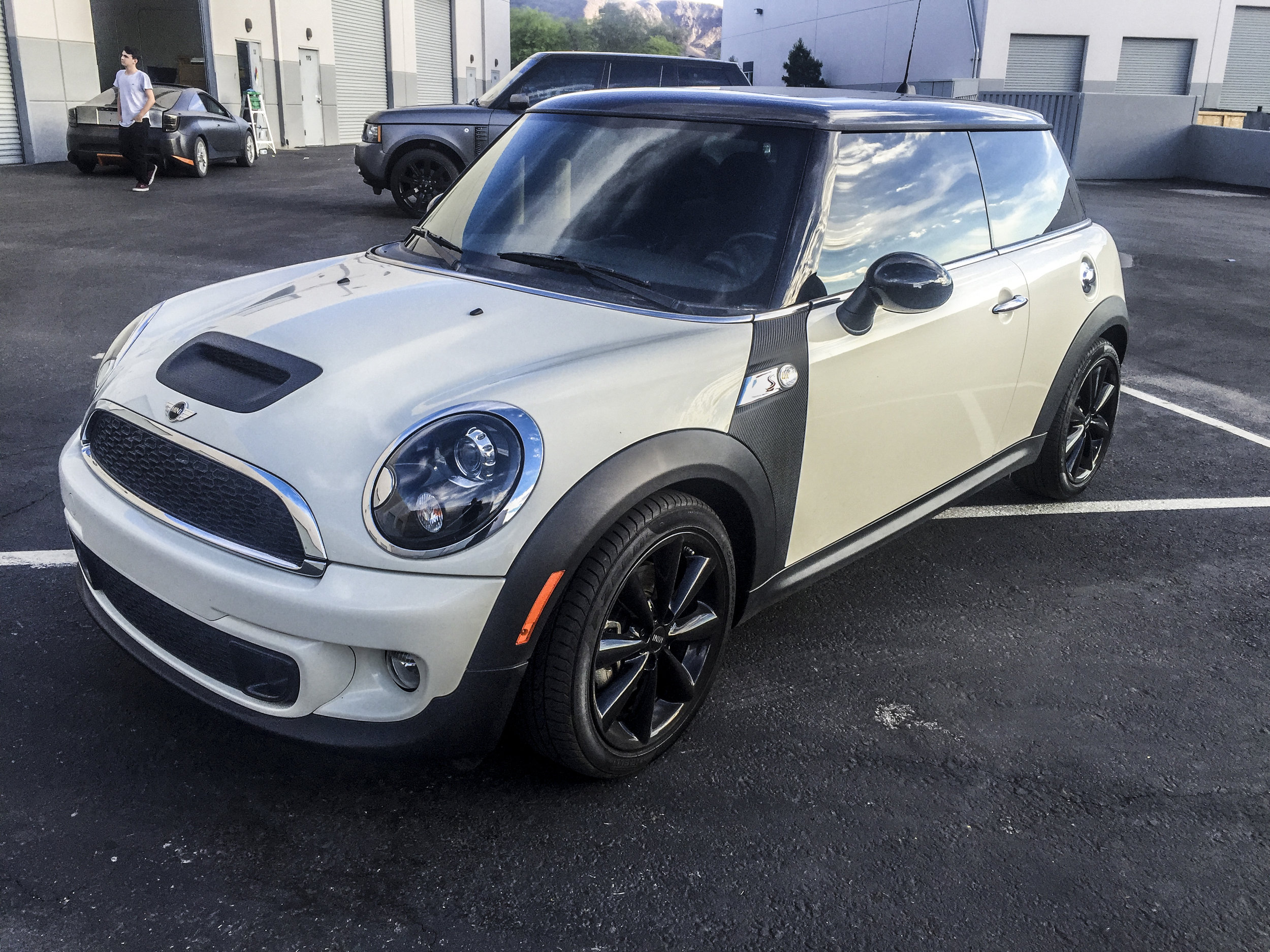 Mini Cooper Raw Carbon Fiber