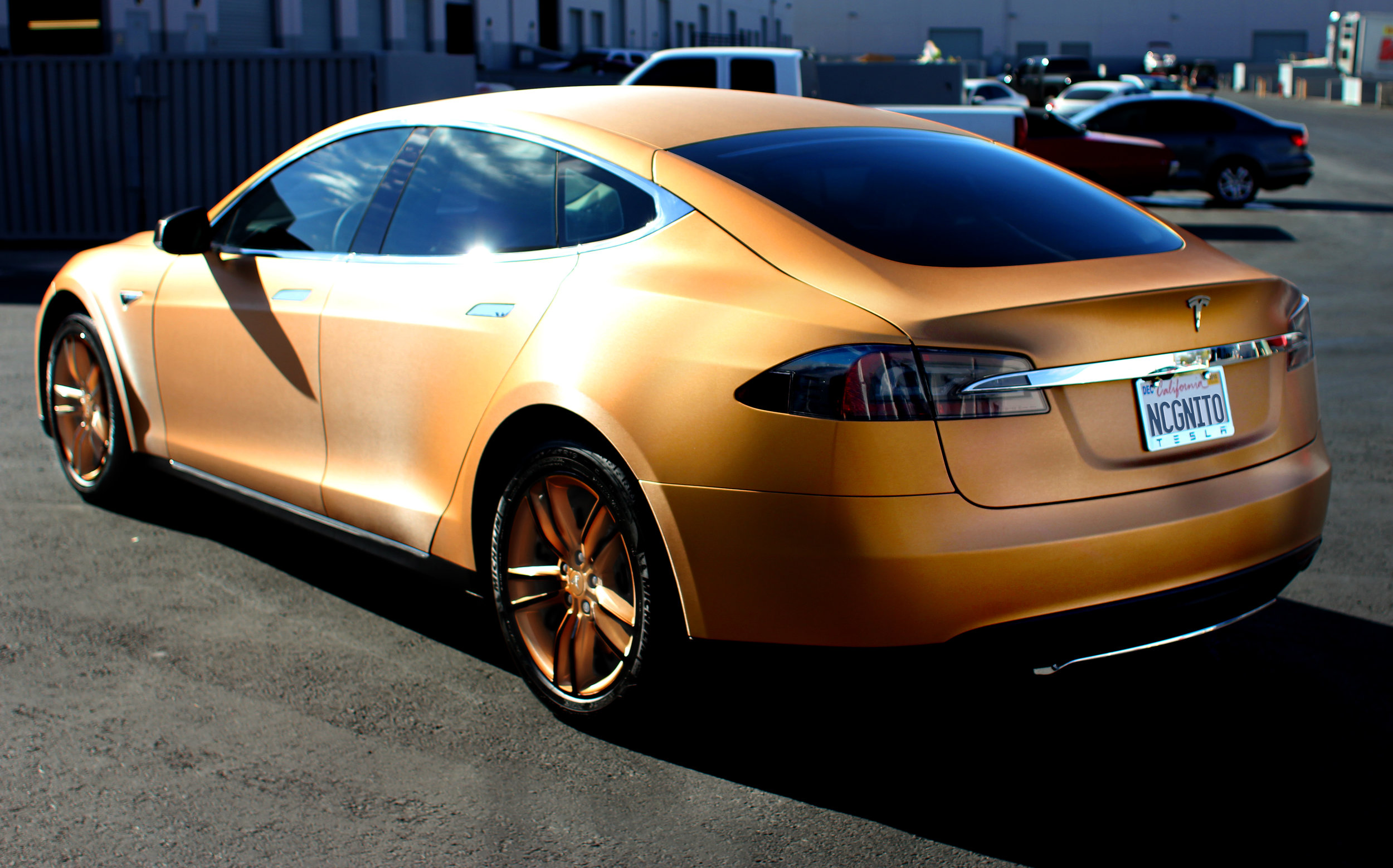 Tesla Model S Brushed Bronze