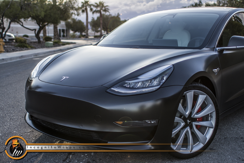 Tesla Model 3 Satin Black Wrap