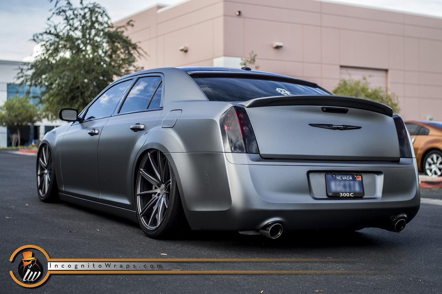 Chrysler 300 Matte Graphite Incognito Wraps