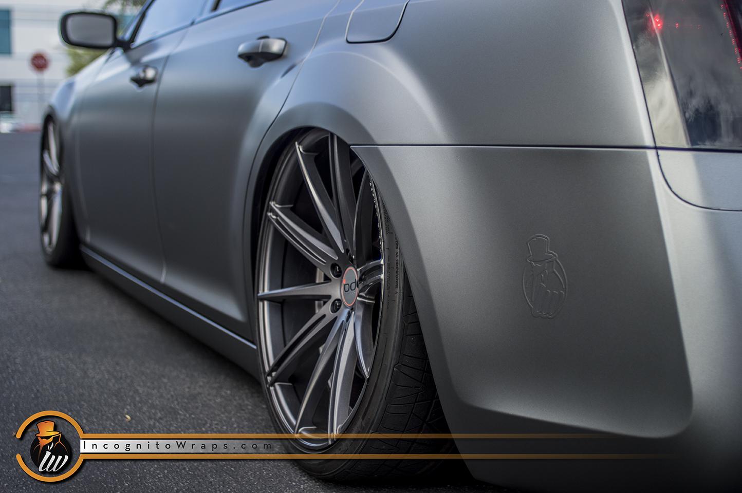 Chrysler 300 Matte Graphite Metallic Satin Wrap