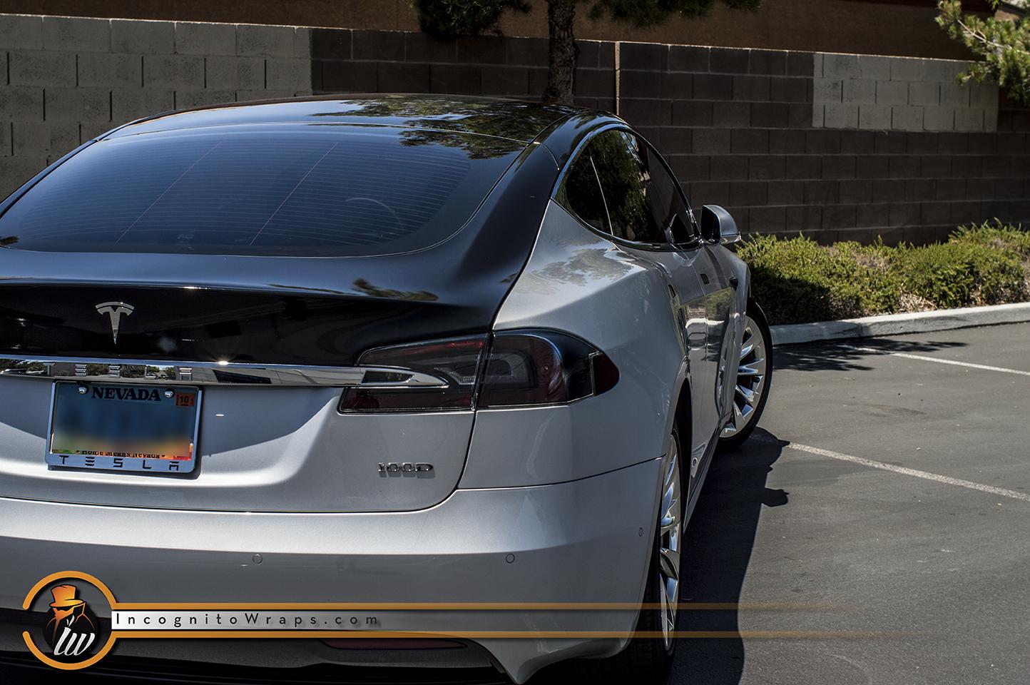 Tesla Model S Gloss Black Roof
