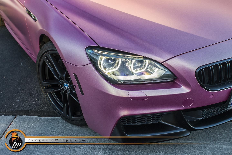 BMW 650i Rose Pink Wrap