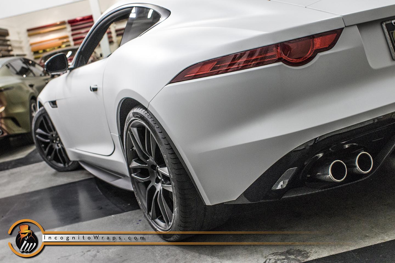 Jaguar F Type Matte Crystalline White Incognito Wraps