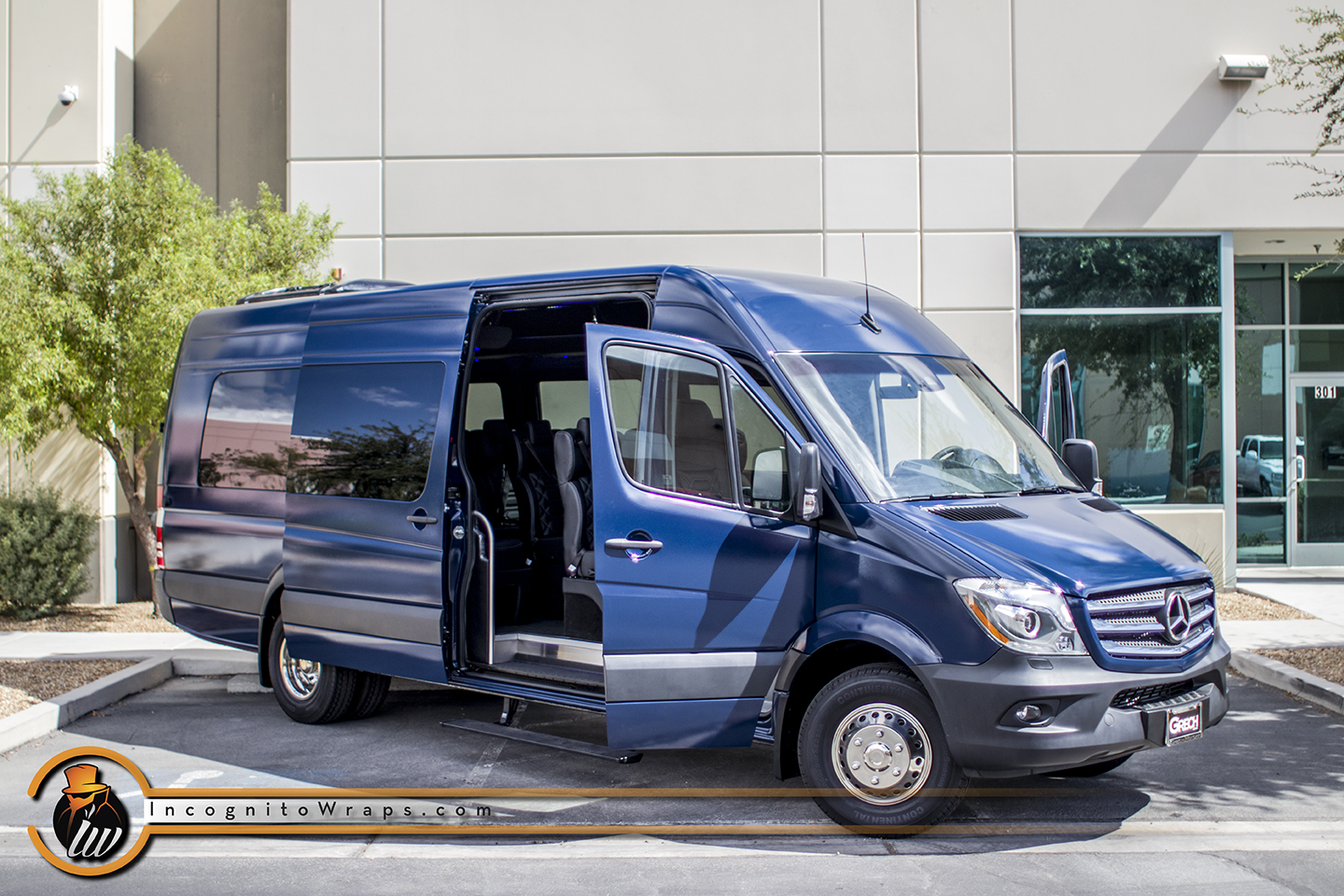 Mercedes Sprinter Wrapped in Gloss Indigo Blue