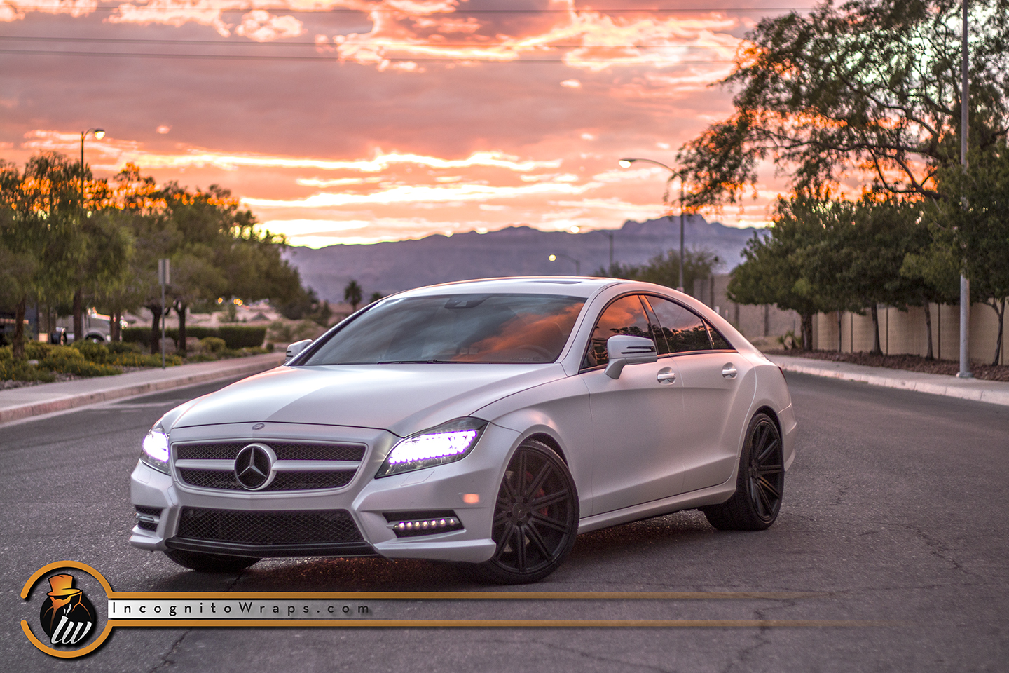 Mercedes CLS 550 - Avery Satin Pearl White Wrap