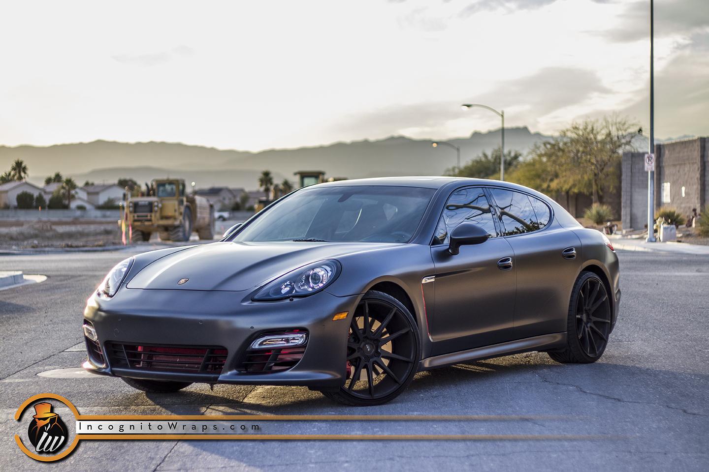 Porsche Panamera Gts Kpmf Satin Nero Incognito Wraps