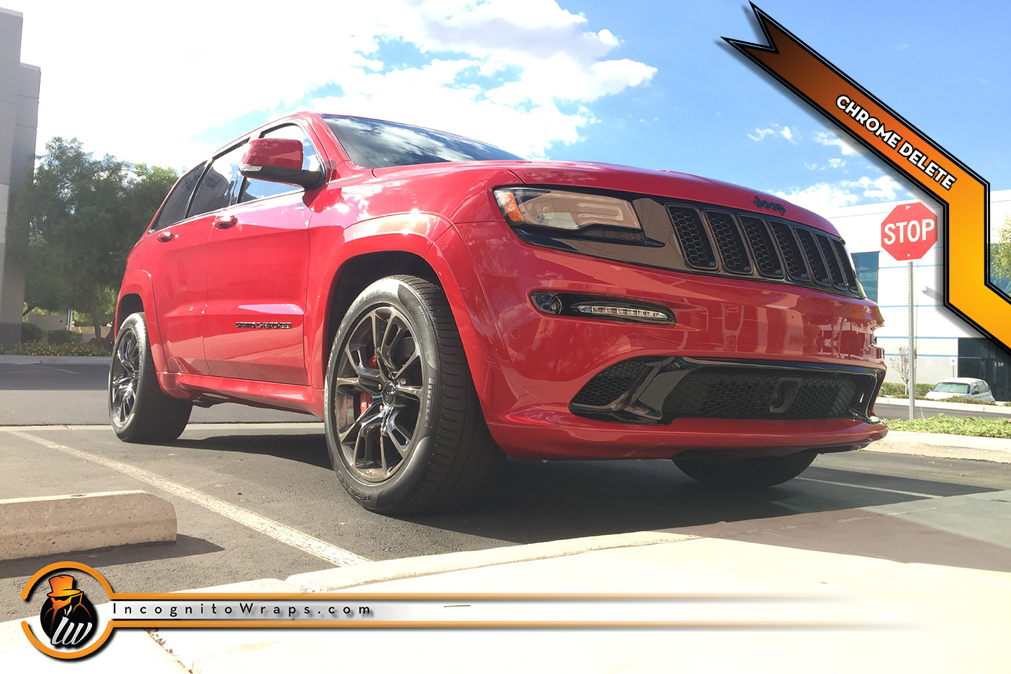 Jeep Grand Cherokee SRT8 - Gloss Black Chrome Delete