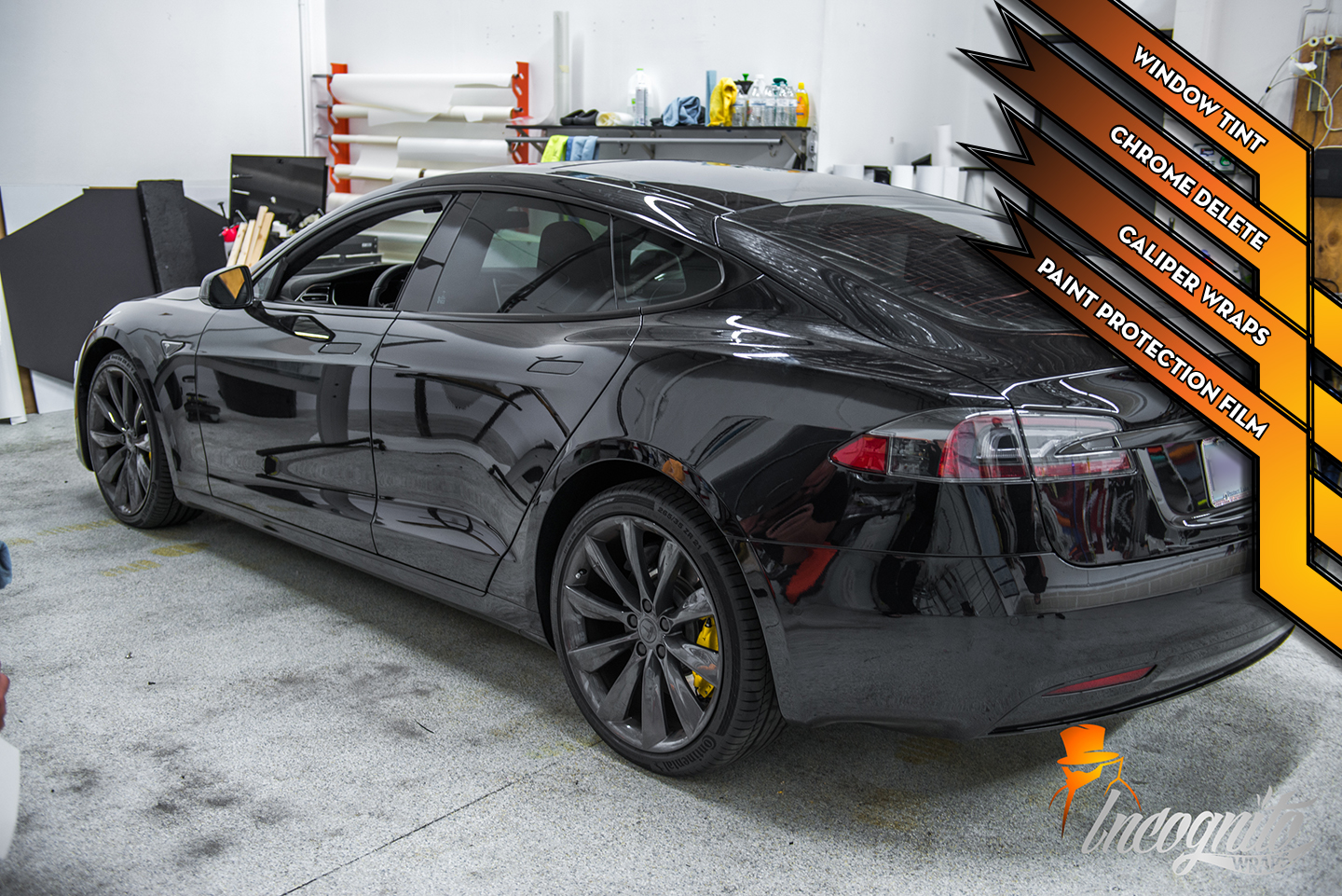 Tesla Model S - Chrome Delete, Calipers, Window Tint, and Paint Protection