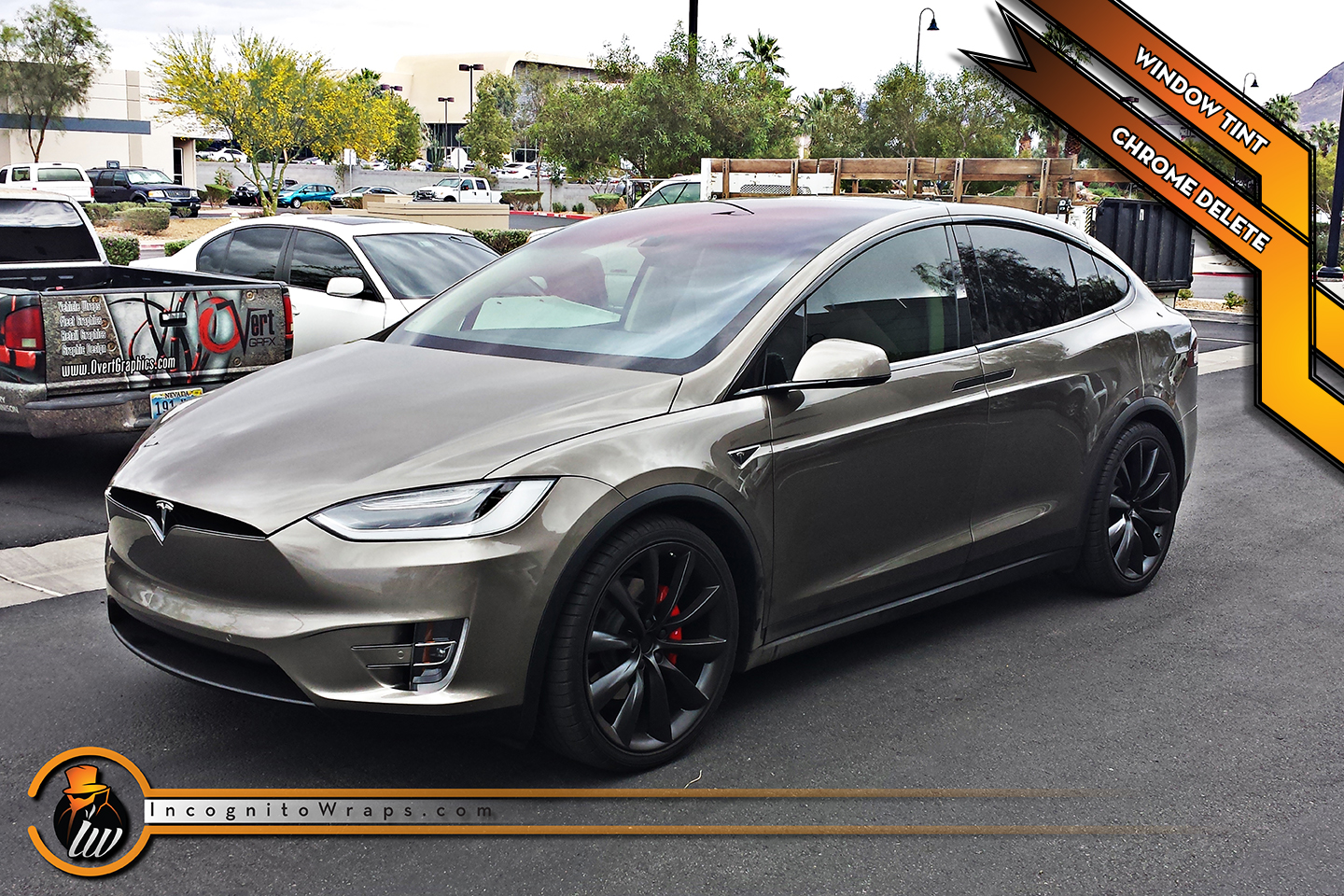 Tesla Model X - Gloss Black Metallic Chrome Delete