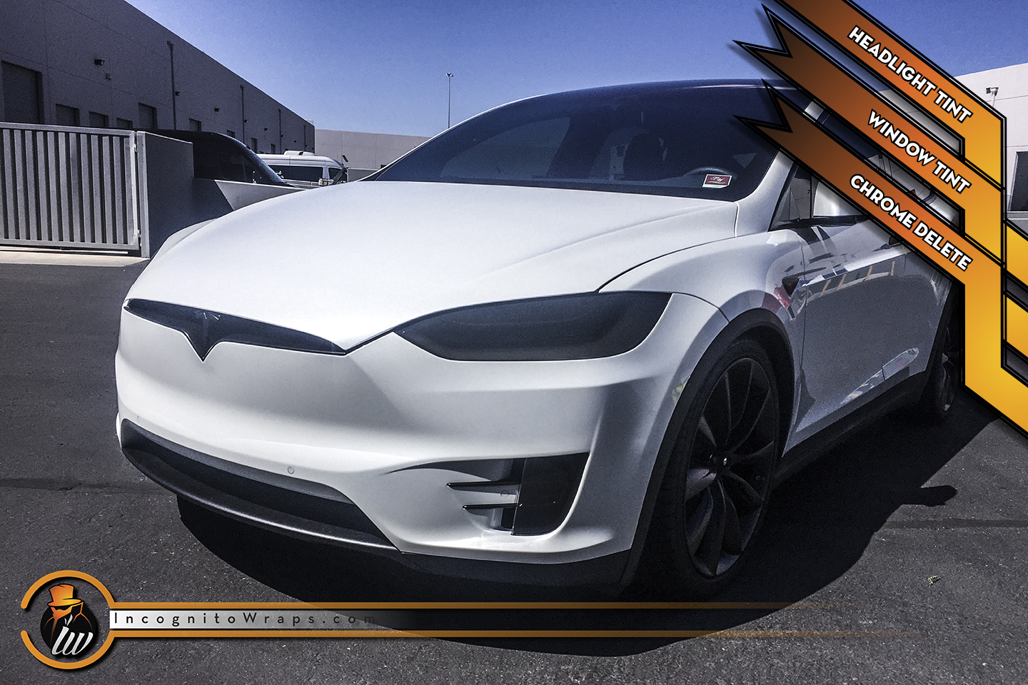 Tesla Model X - Satin Black Chrome Delete