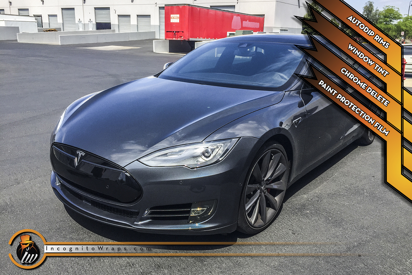 Tesla Model S - Carbon Fiber Chrome Delete, AutoDip Rims, and Paint Protection Film